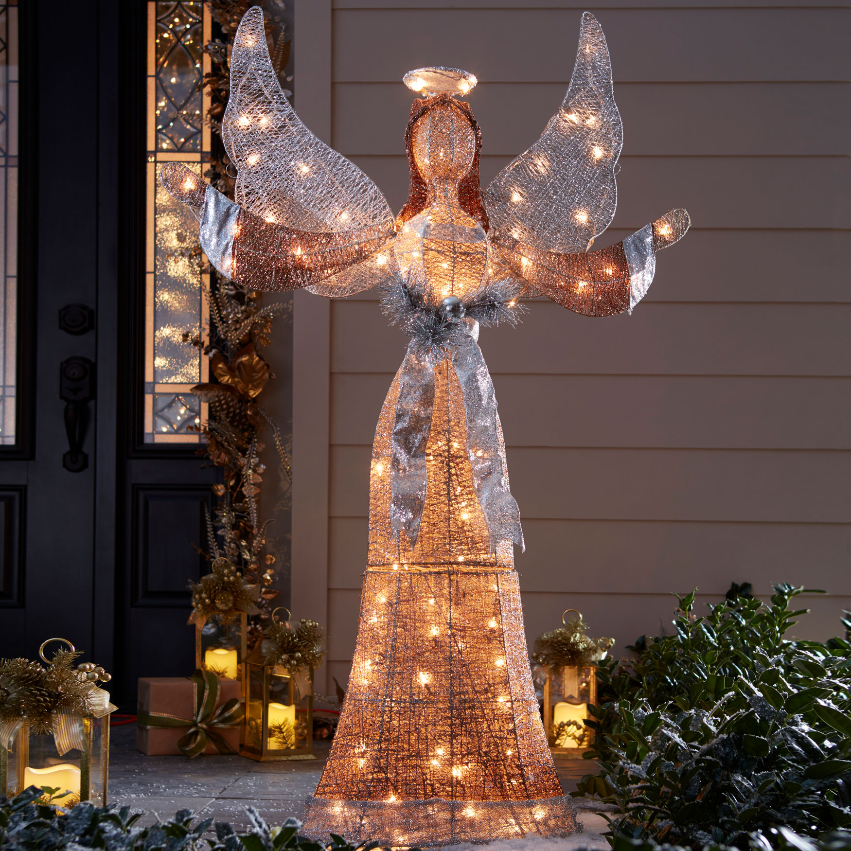 58h led glitter angel multi