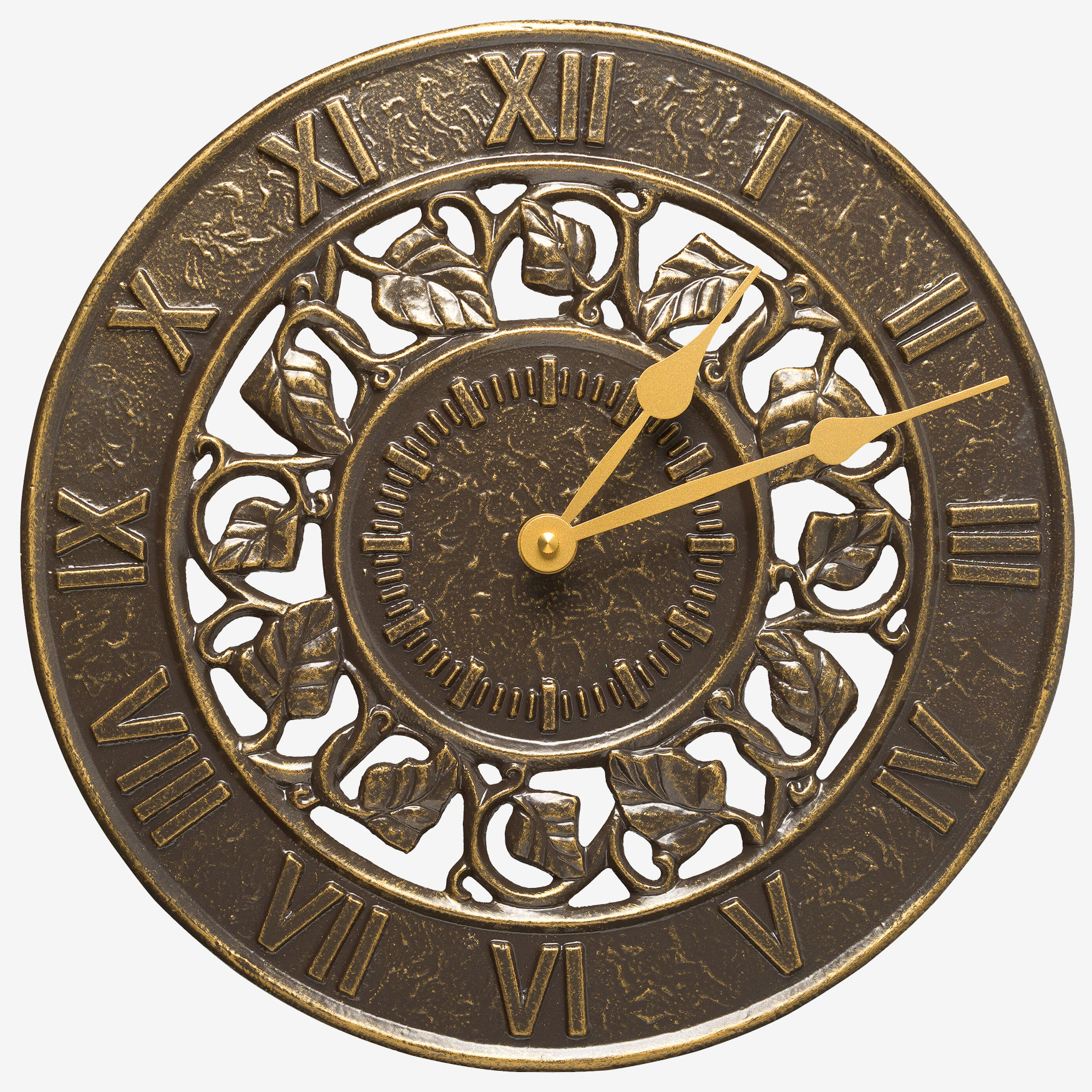 Ivy Silhouette Clock , FRENCH BRONZE