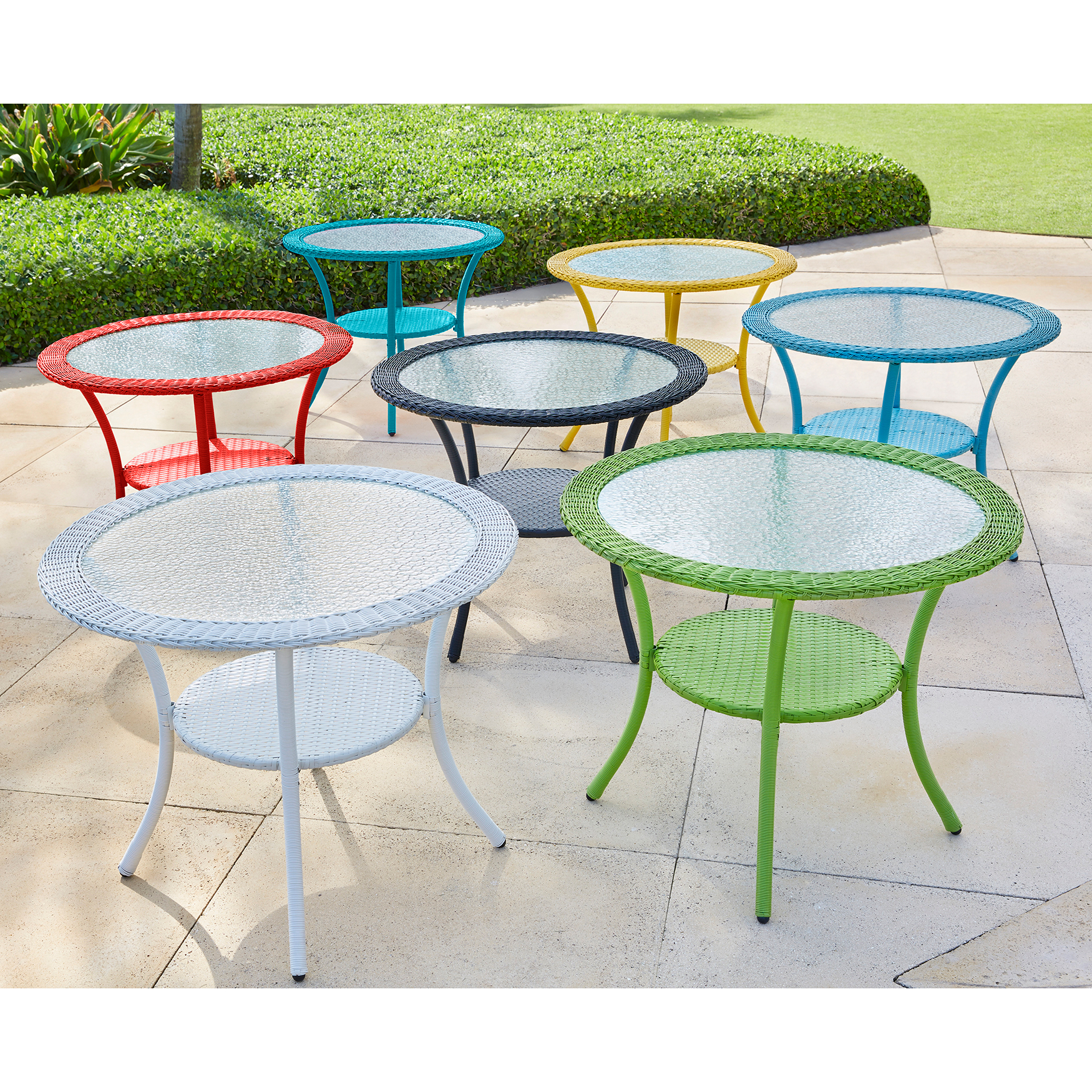 Weather Resin Wicker Bistro Table