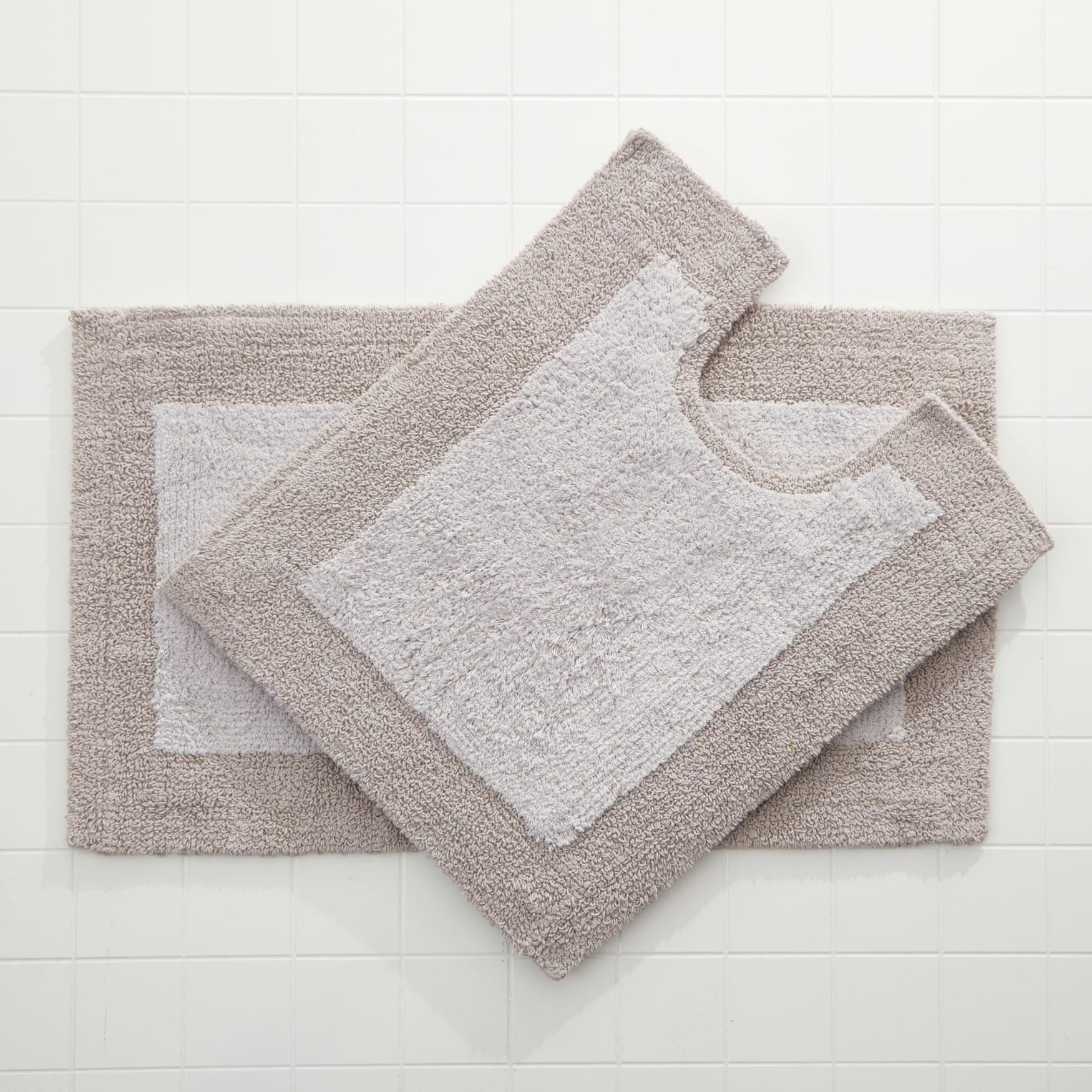 BrylaneHome® Studio 2-Pc. Bath Rug Set, SILVER