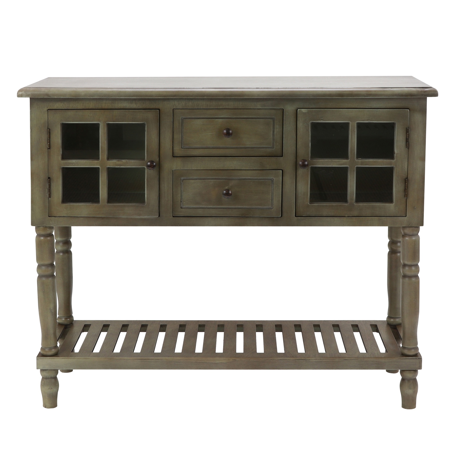 Antique Grey Buffet Console by J. Hunt, GRAY