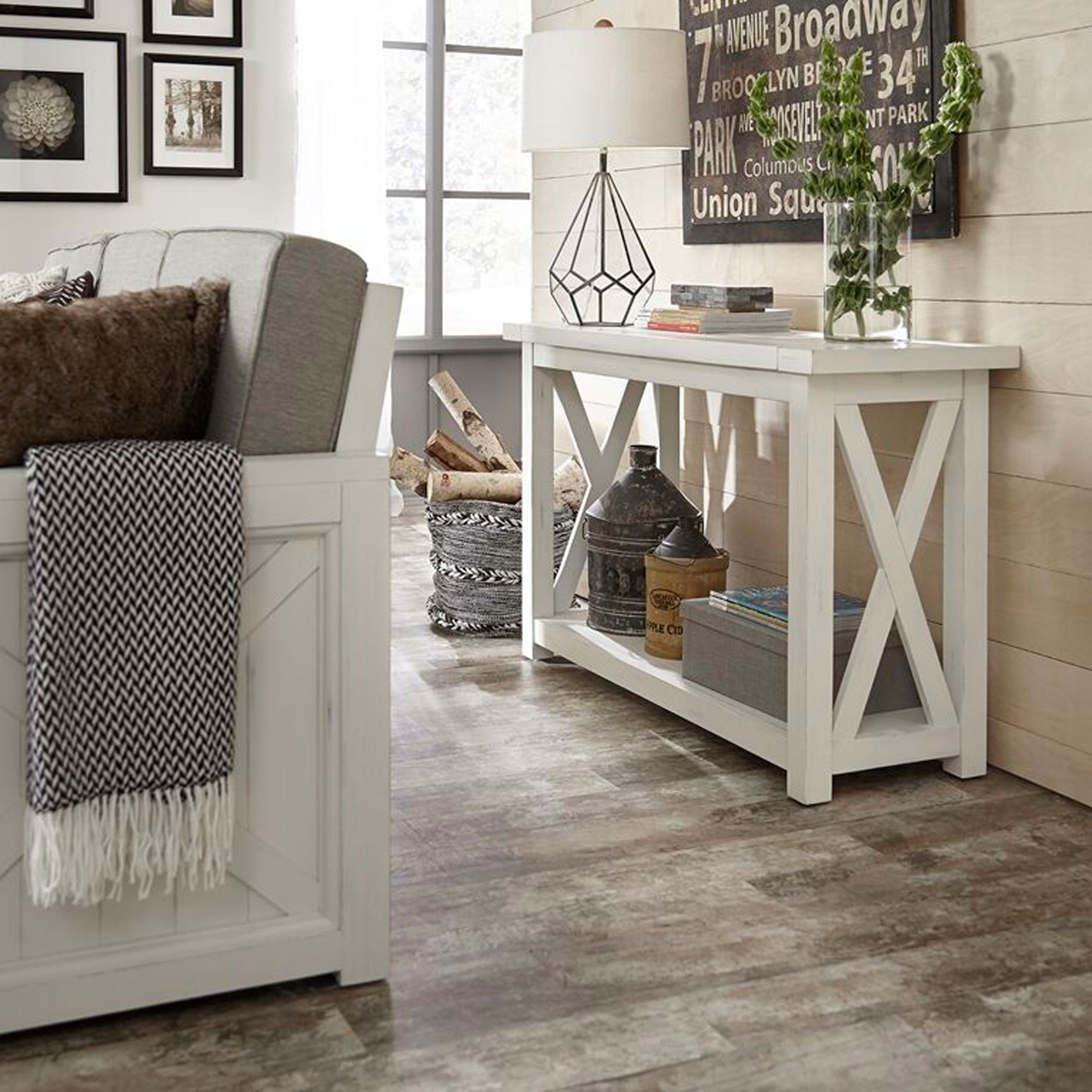Seaside Lodge Console Table, WHITE