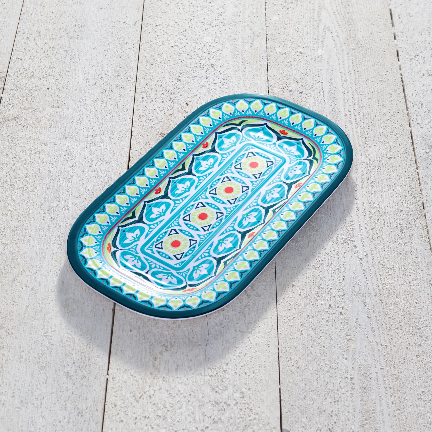 Blue Casab Rectangular Platter, MULTI