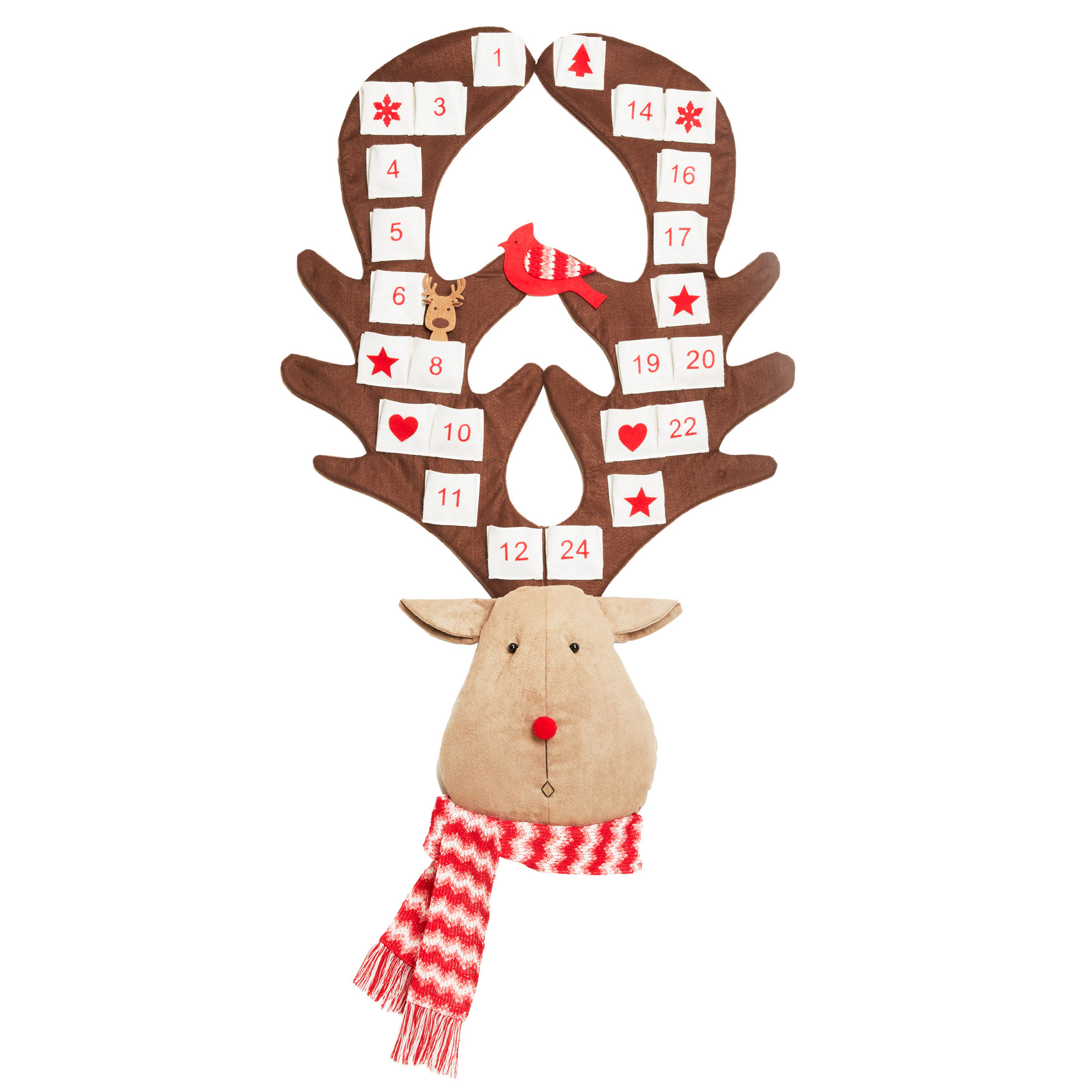 Reindeer Advent Calendar, RED BROWN