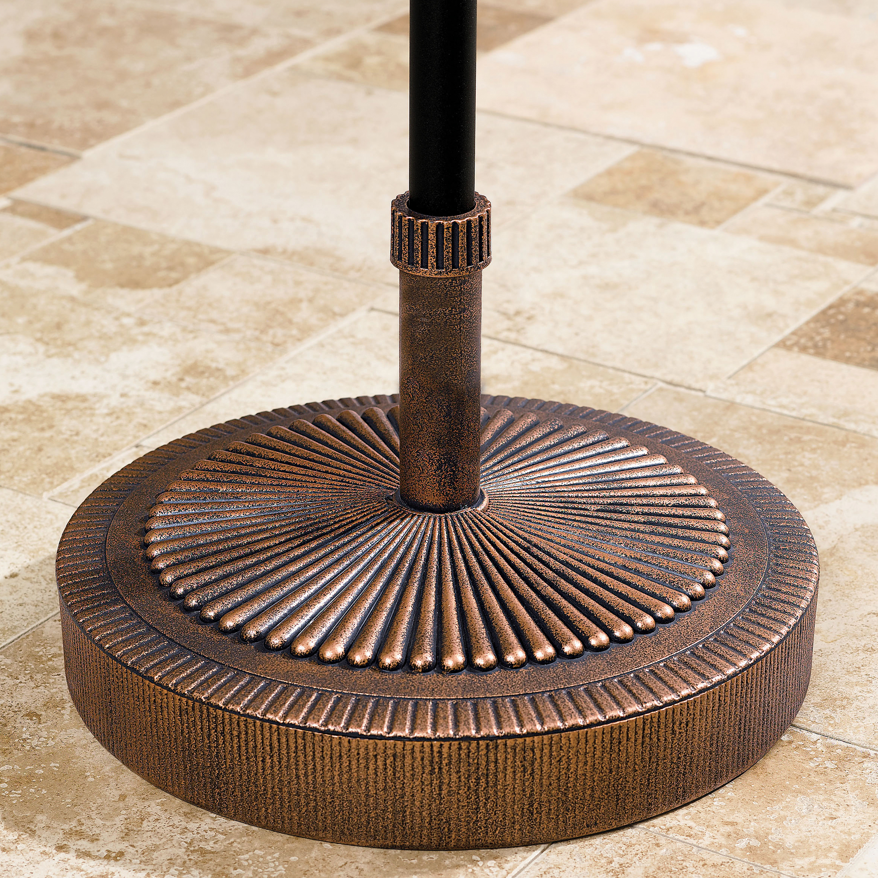 Starburst Weather-Resistant Umbrella Stand, BRONZE