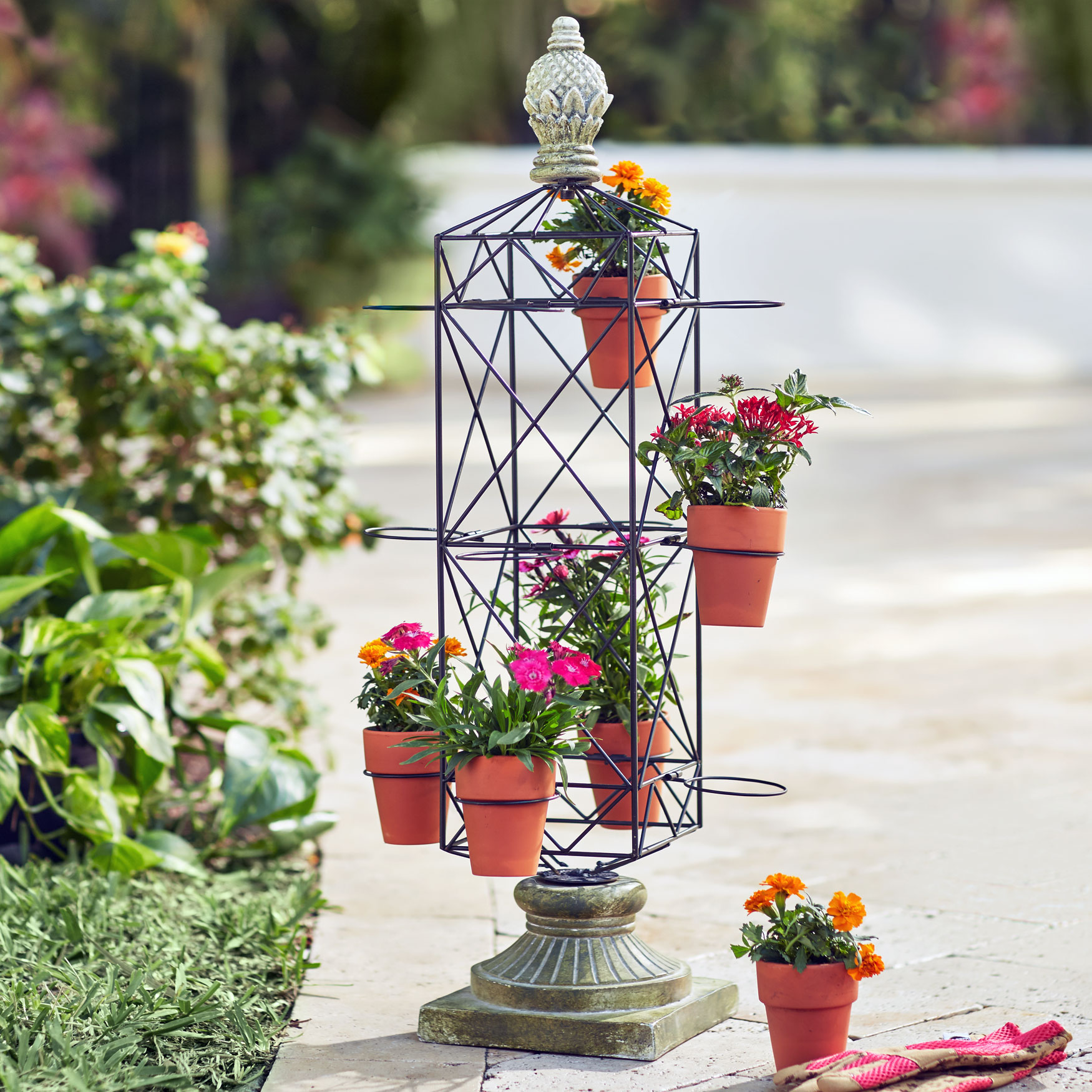 Metal Plant Stand Plus Size Outdoor Brylane Home