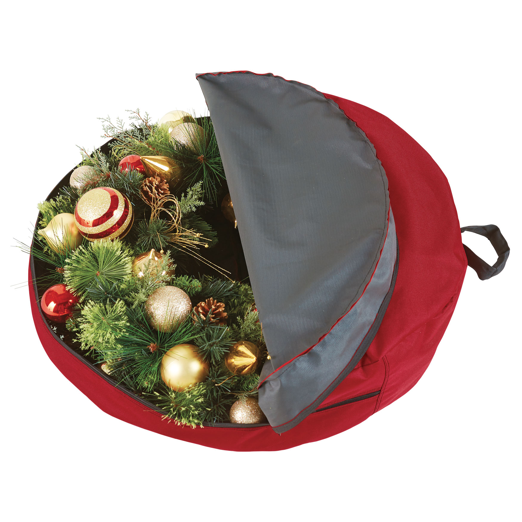 30 wreath storage bag red