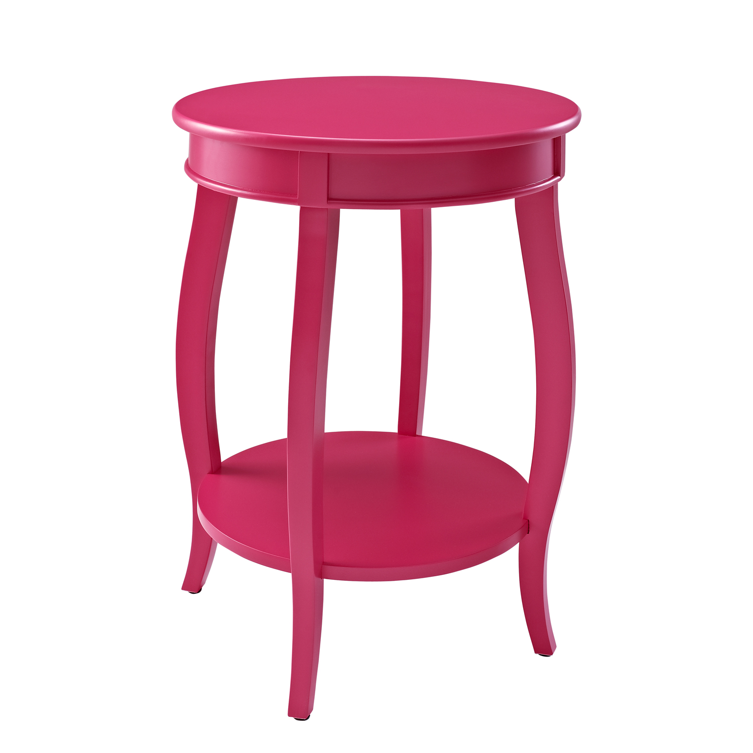 Round Table with Shelf, BUBBLE GUM