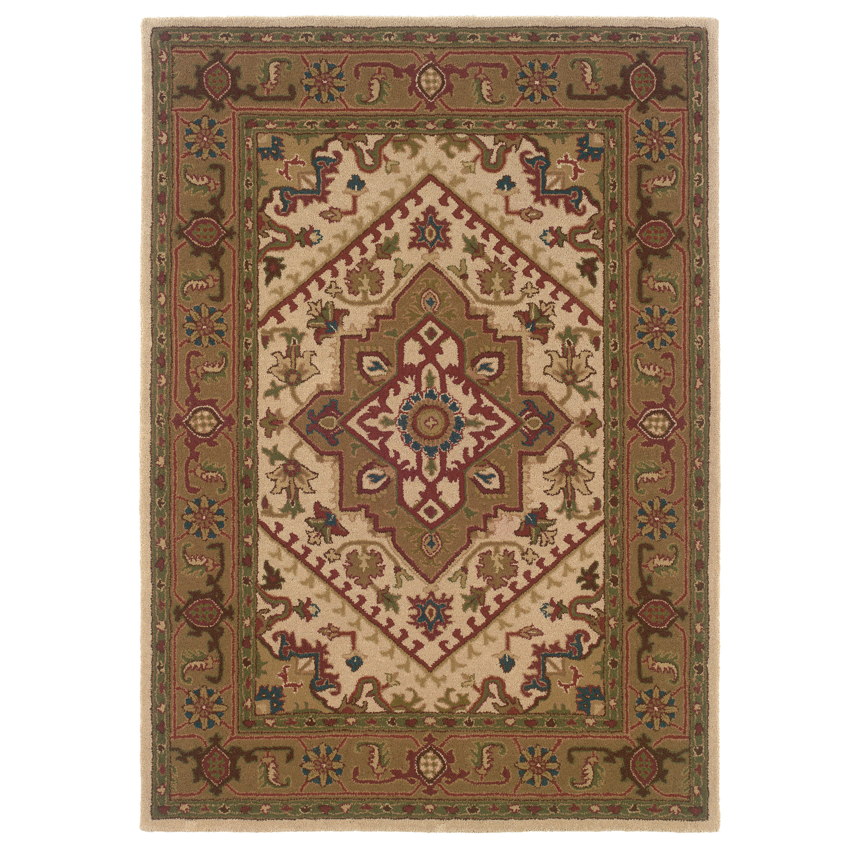Trio Traditional Ivory 5'X7' Area Rug, IVORY