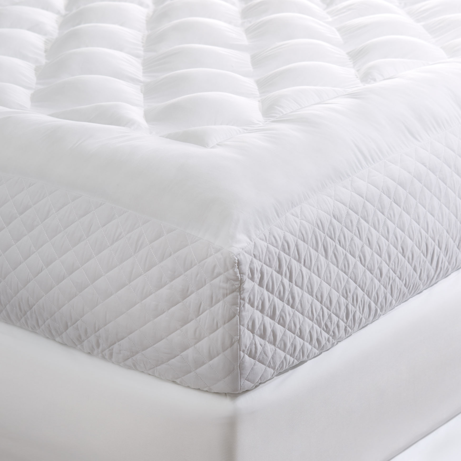 Tranquil Puff Side-Wall Mattress Pad, WHITE