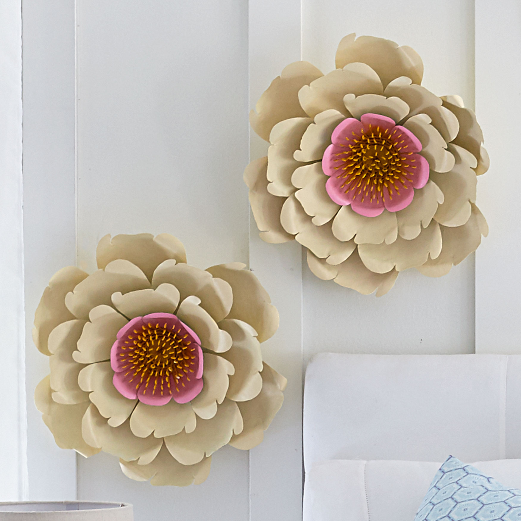 Wall Flower Decor, WHITE