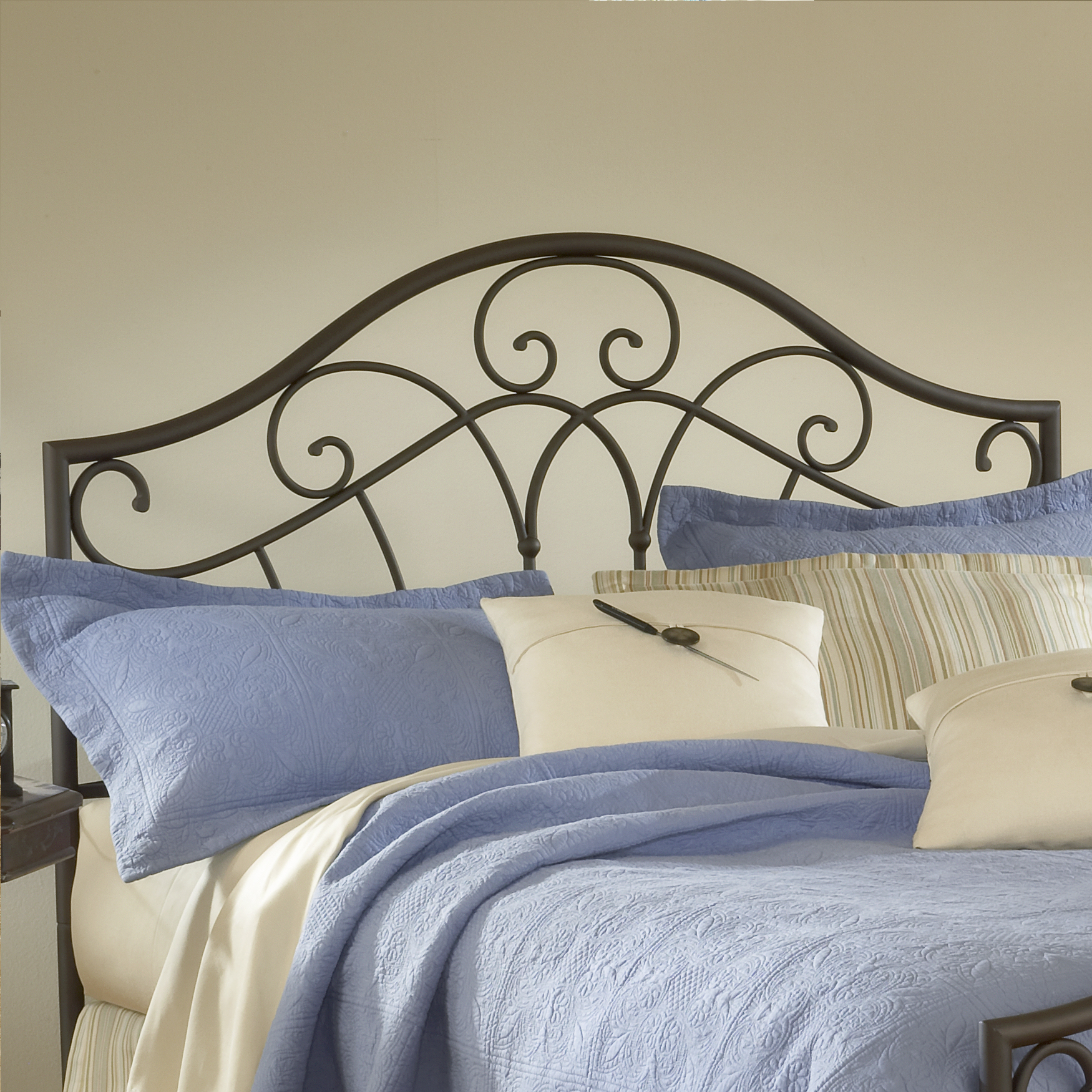 "Full/Queen Headboard with Headboard Frame, 71½""Lx61""Wx54""H, METALLIC BROWN"