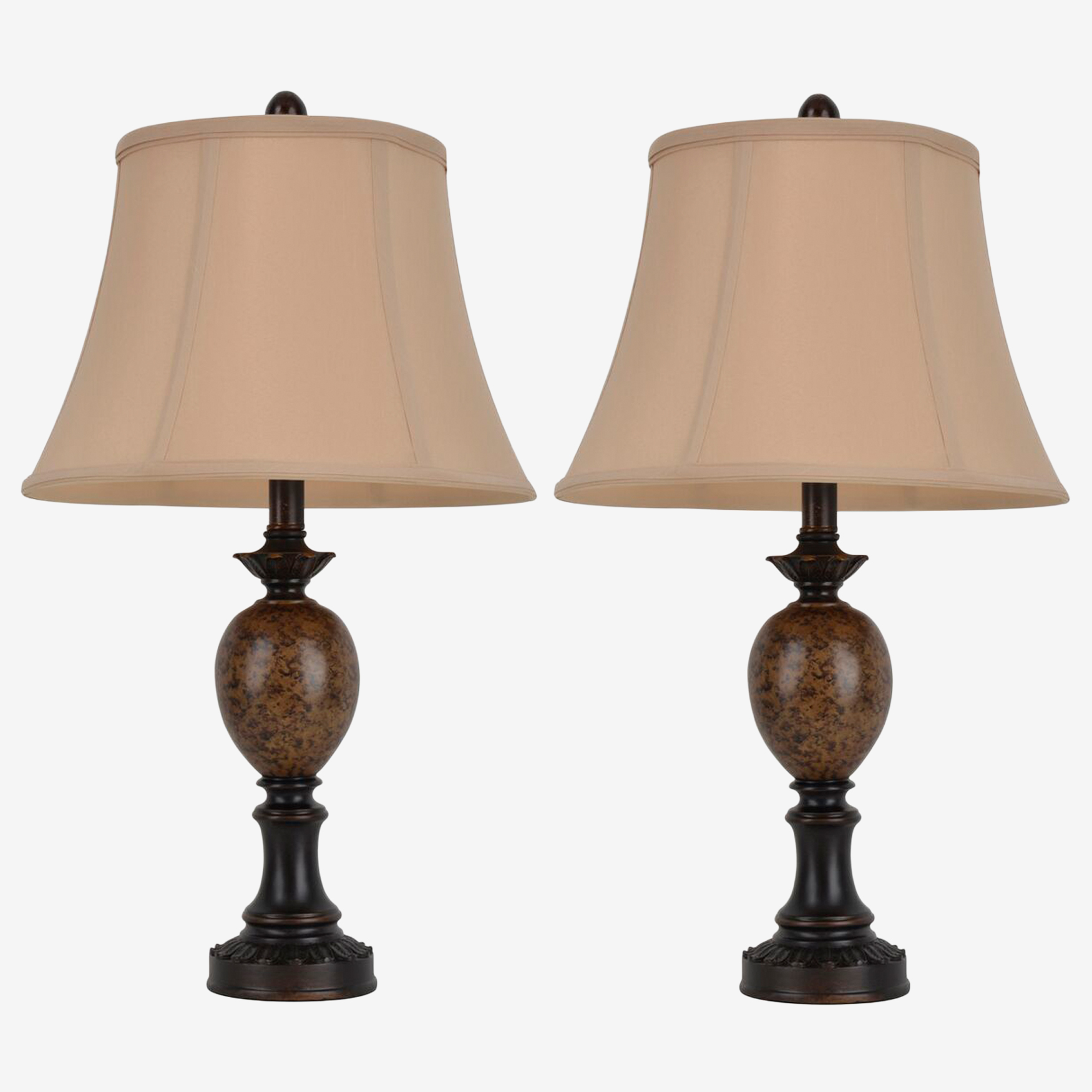 Classic Pair of Table Lamps, BRONZE