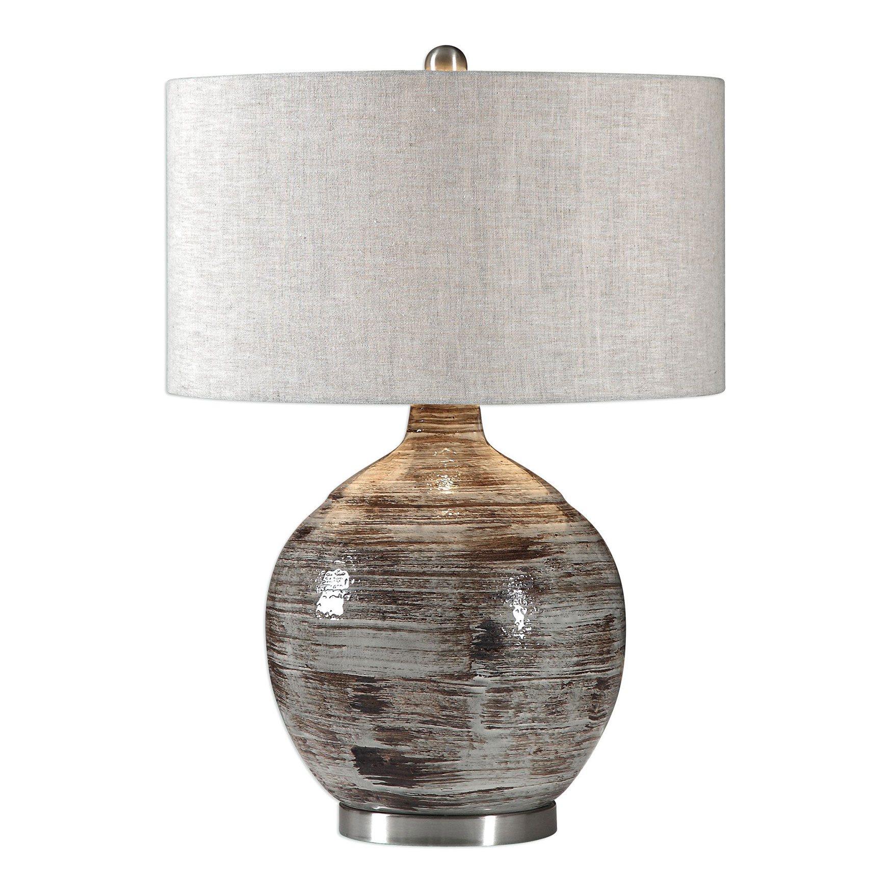 Tamula Distressed Ivory Table Lamp, IVORY