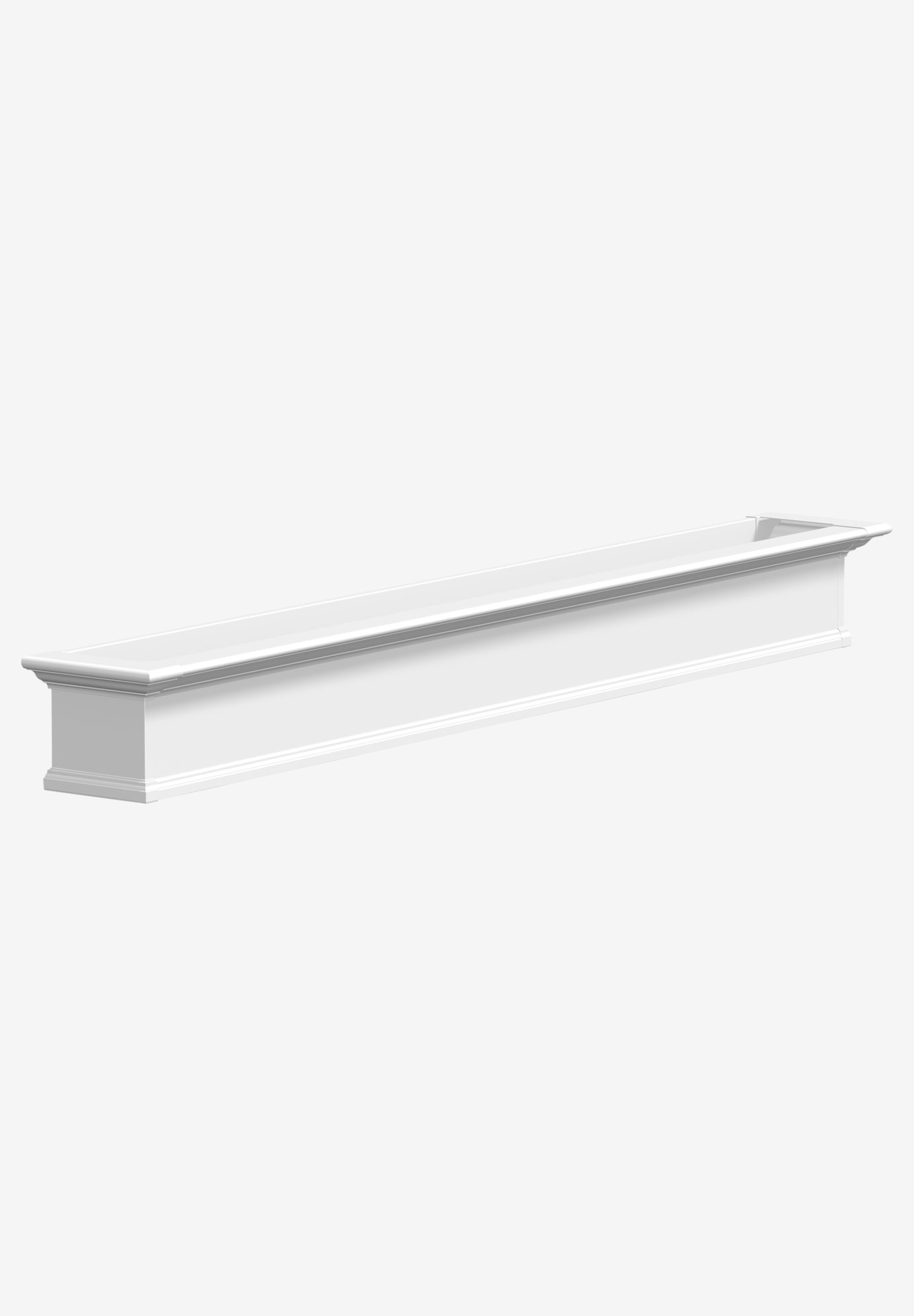 Yorkshire 8' Window Box, WHITE