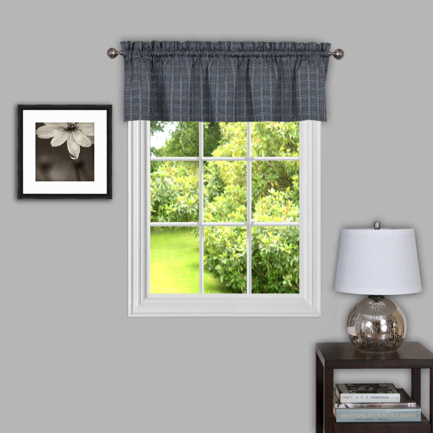 "Sydney 58"" x 14"" Window Curtain Valance,"