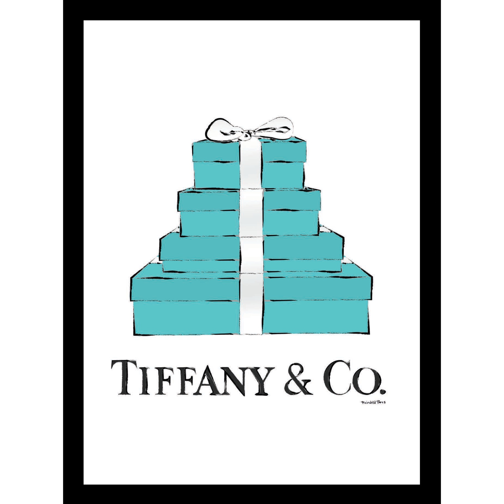 Tiffany Gift Boxes 14x18 Framed Print, TURQUOISE