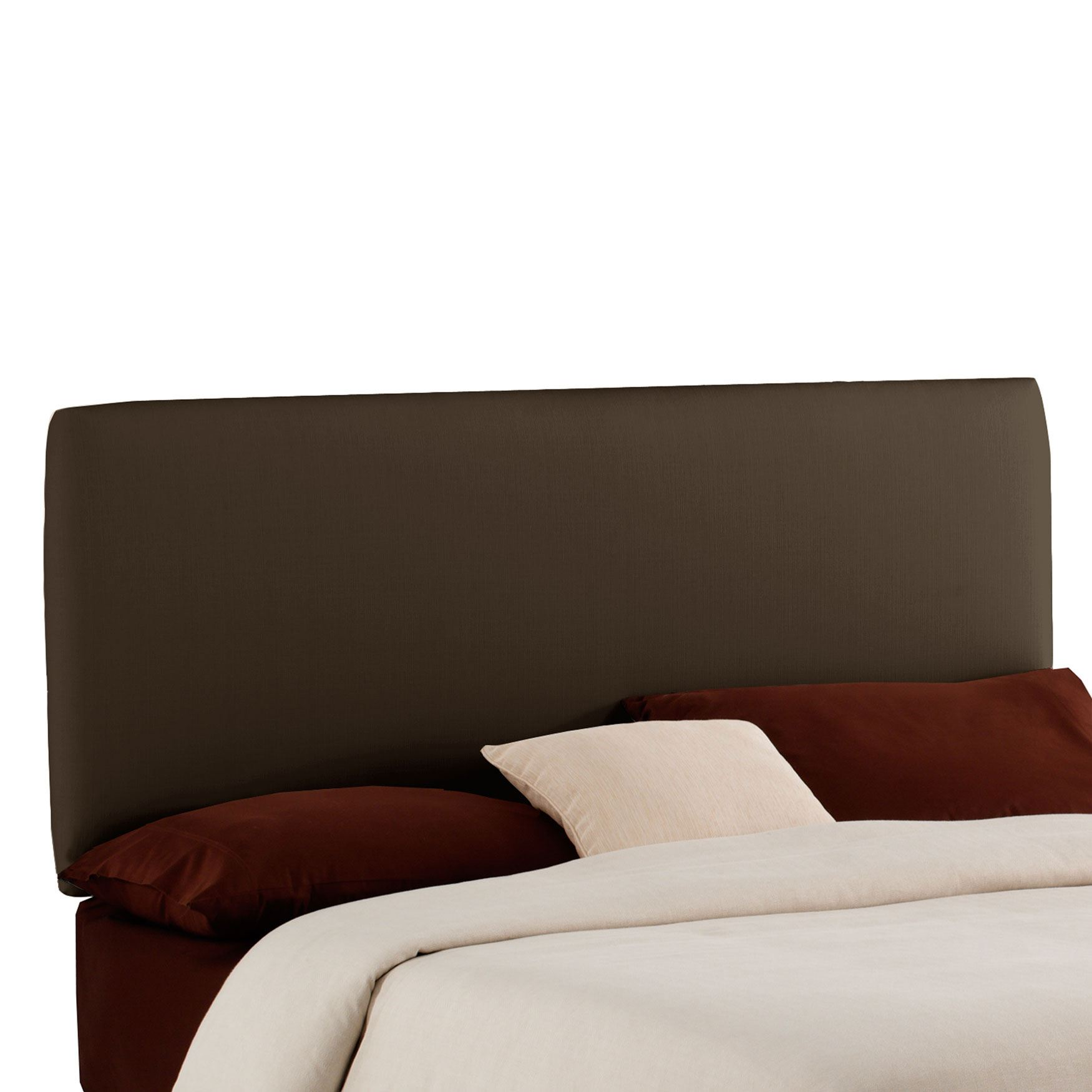 Upholstered Plain Front Headboard in Twill,