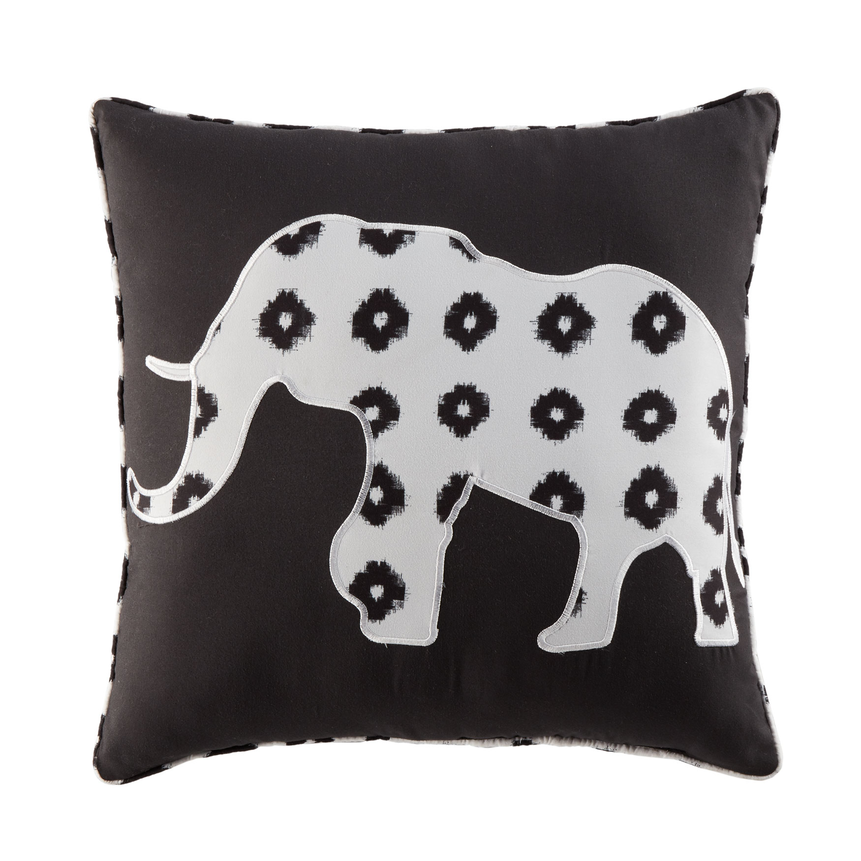 "BrylaneHome® Studio 16"" Decorative Pillow, BLACK WHITE"