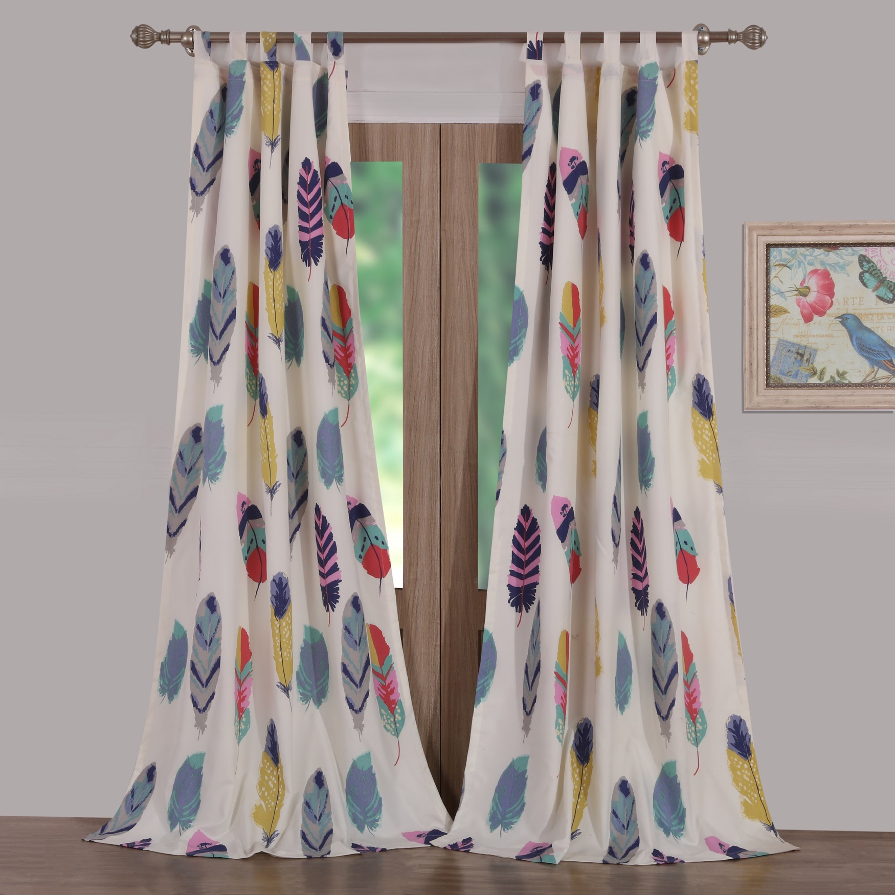Dream Catcher Teal Curtain Panel Pair by Greenland Home Fashions, TEAL