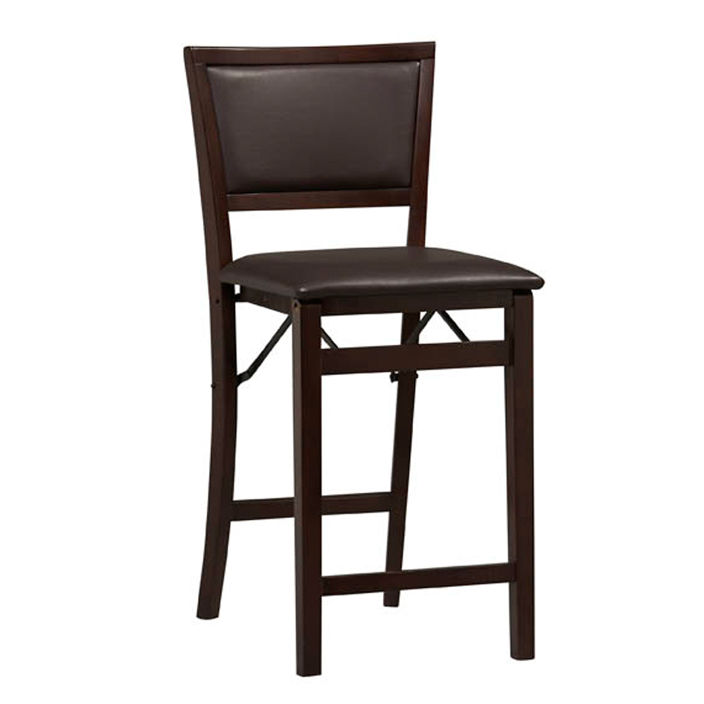 Triena Pad Back Folding Counter Stool 24 Plus Size Bar Stools