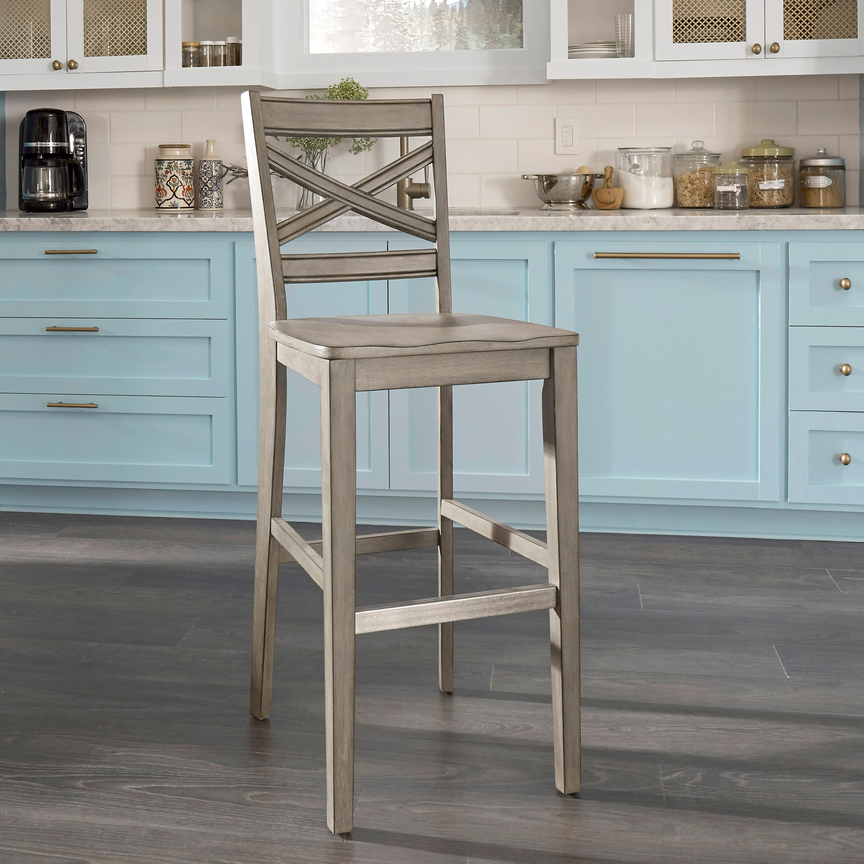 Mountain Lodge Bar Stool by Home Styles, MULTI GRAY