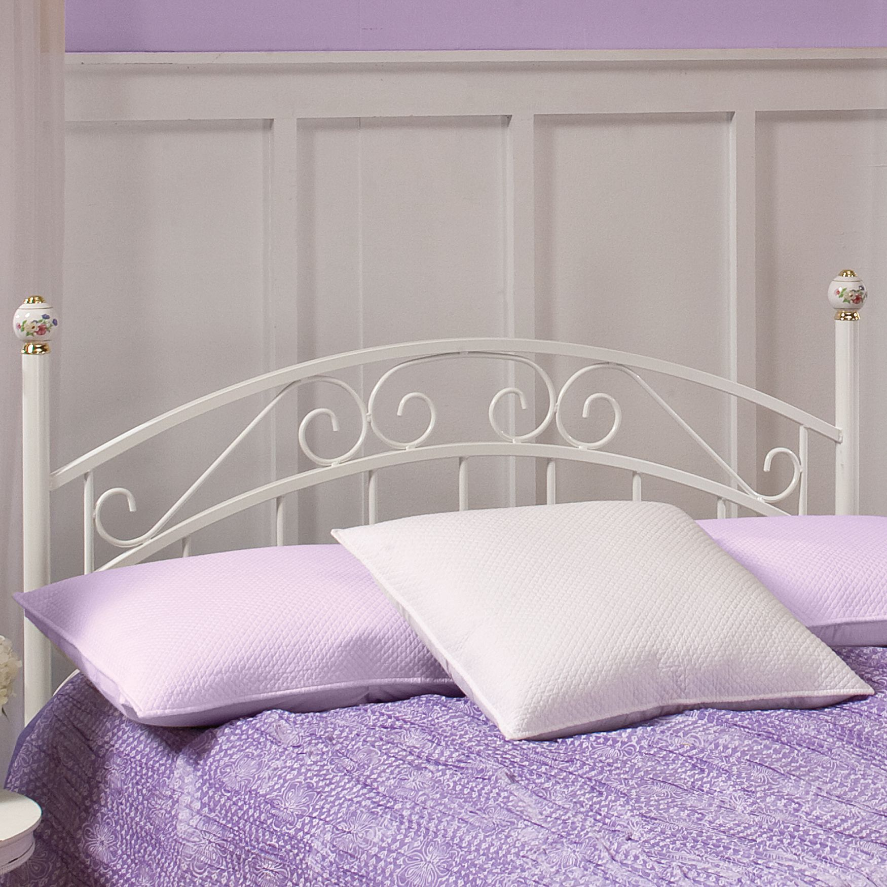 "Full Headboard with Headboard Frame, 63½""Lx53½""Wx54½""H, WHITE"