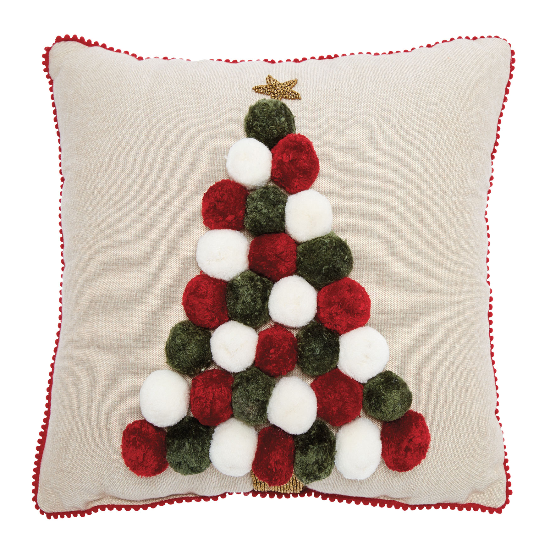 Pompom Tree Pillow, MULTI