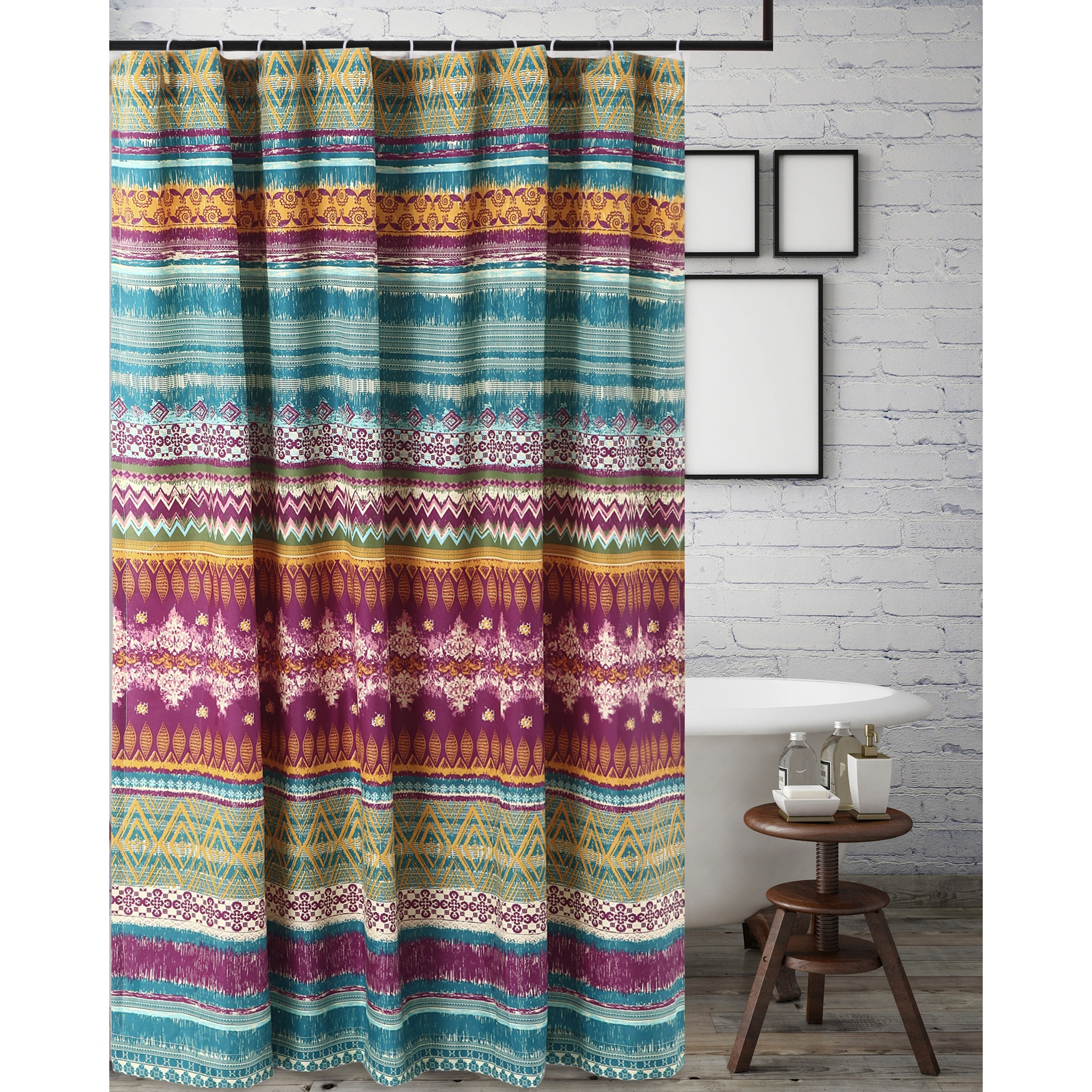 Southwest Shower Curtain by Greenland Home Fashions, MULTI