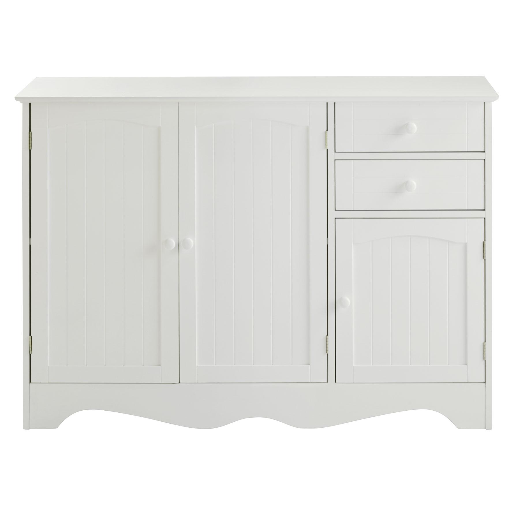 Cottage Kitchen Buffet Cabinet White