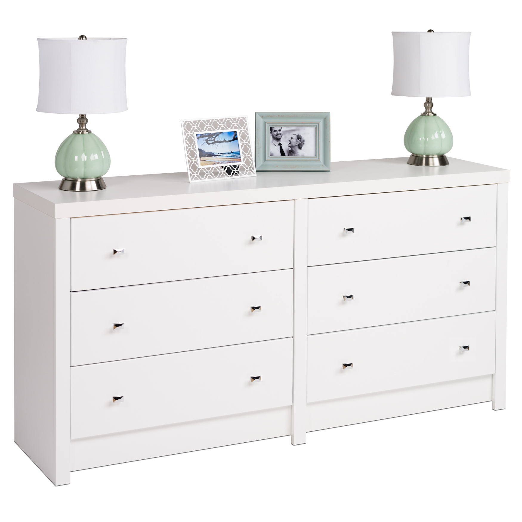 Calla 6-Drawer Dresser, WHITE