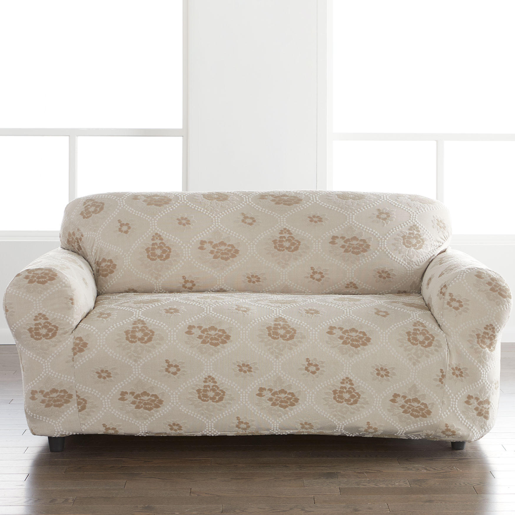 Floral Stretch Loveseat Slipcover,