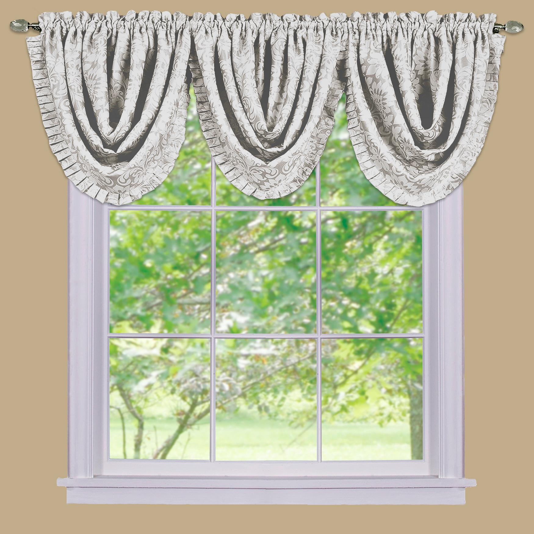 Ombre Waterfall Valance,