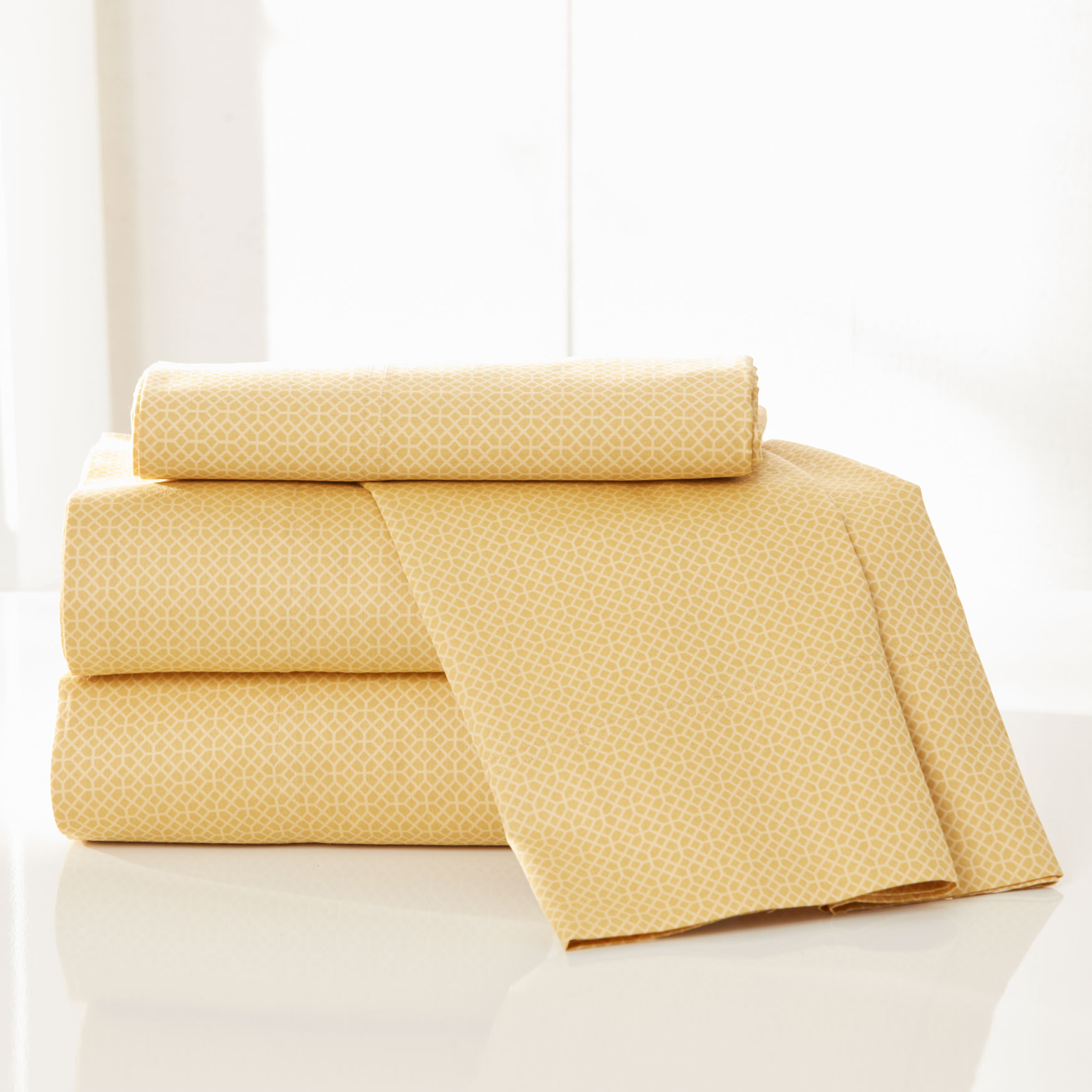 300-TC Geo Cotton Sheet Set ,