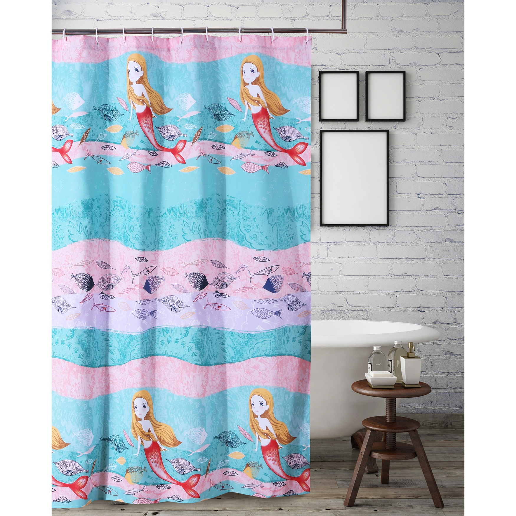 Mermaid Shower Curtain by Greenland Home Fashions, MULTI
