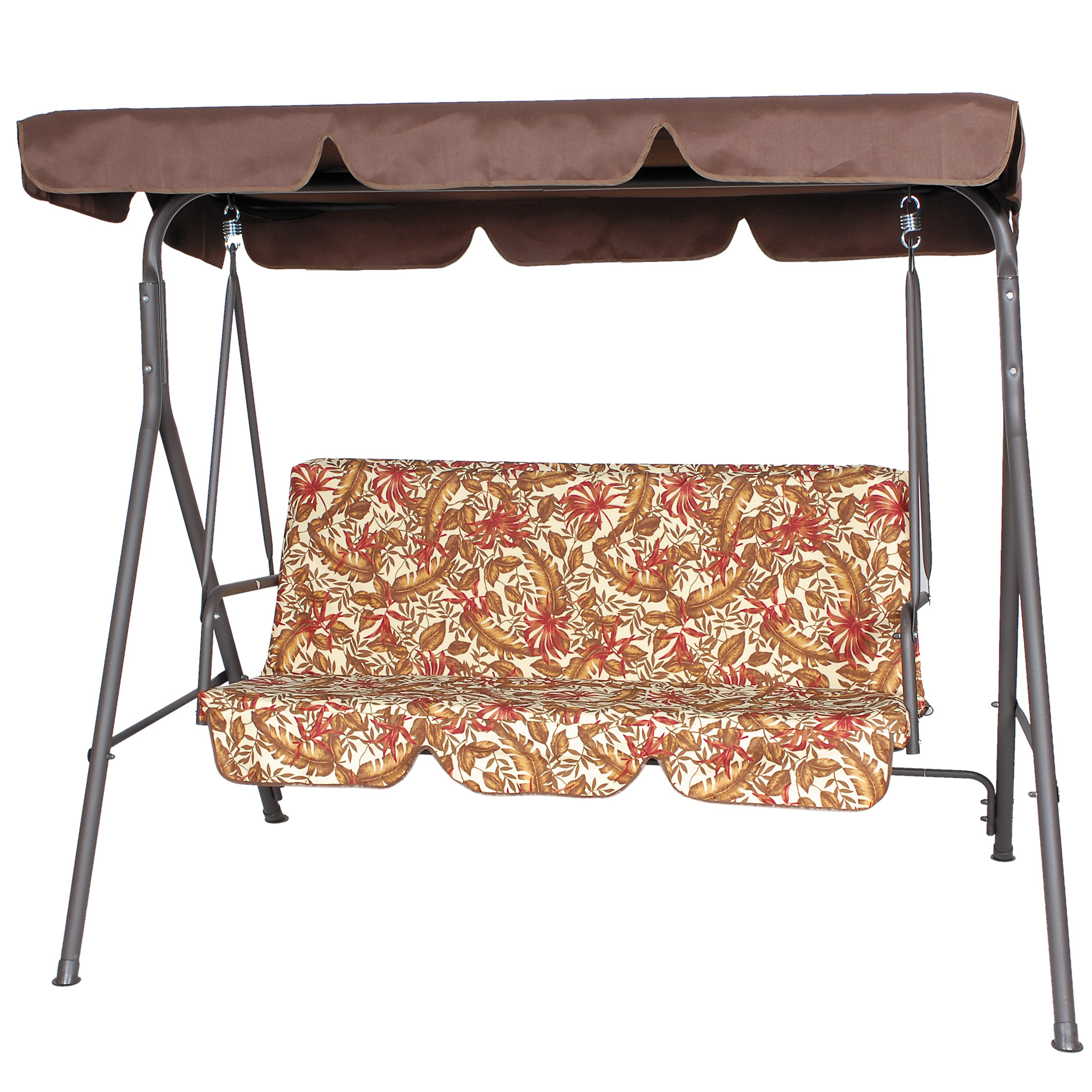 3 Seat Swing with Canopy, BEIGE SAGE RUST