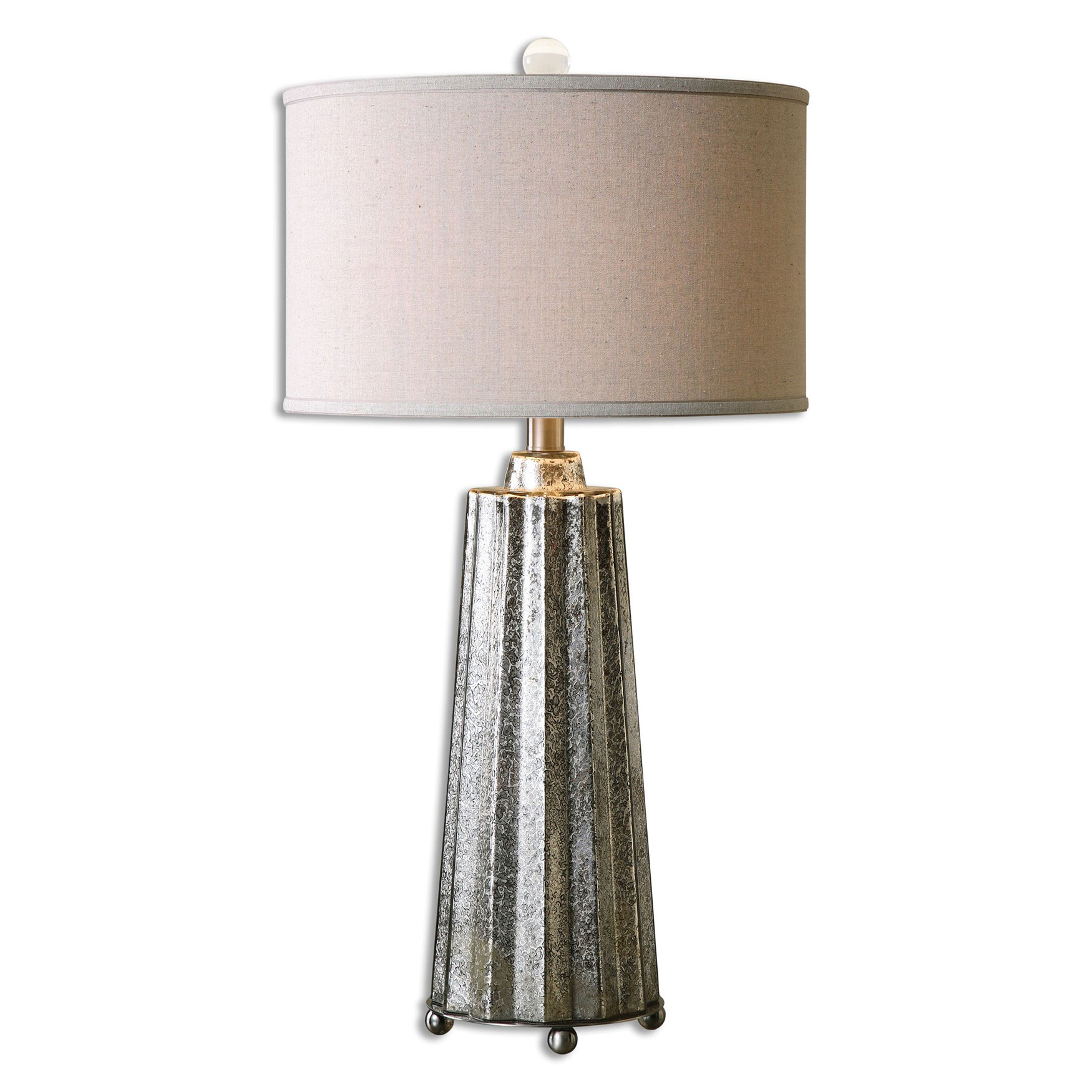 Sullivan Mercury Glass Table Lamp, NICKEL