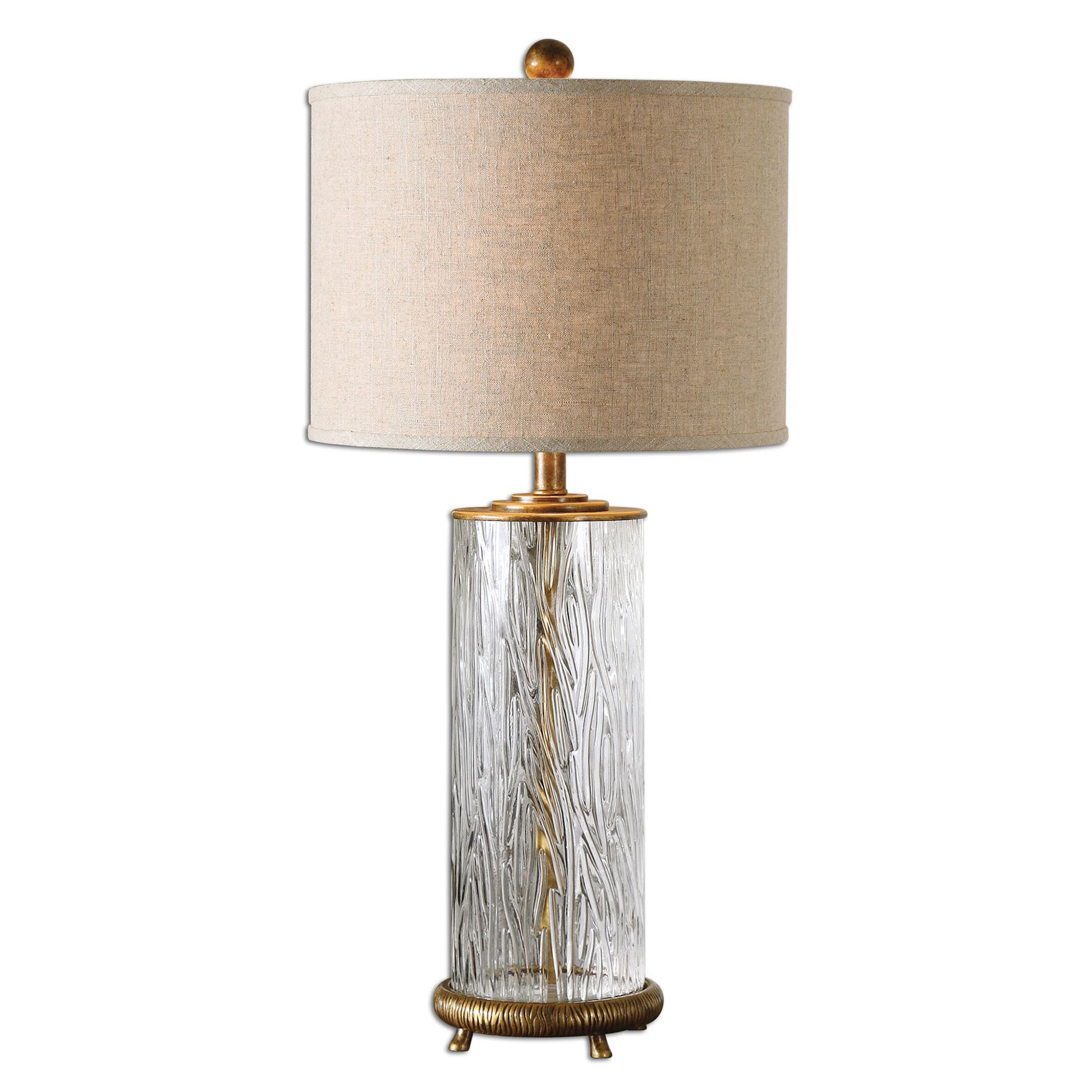 Tomi Glass Table Lamp, GOLD