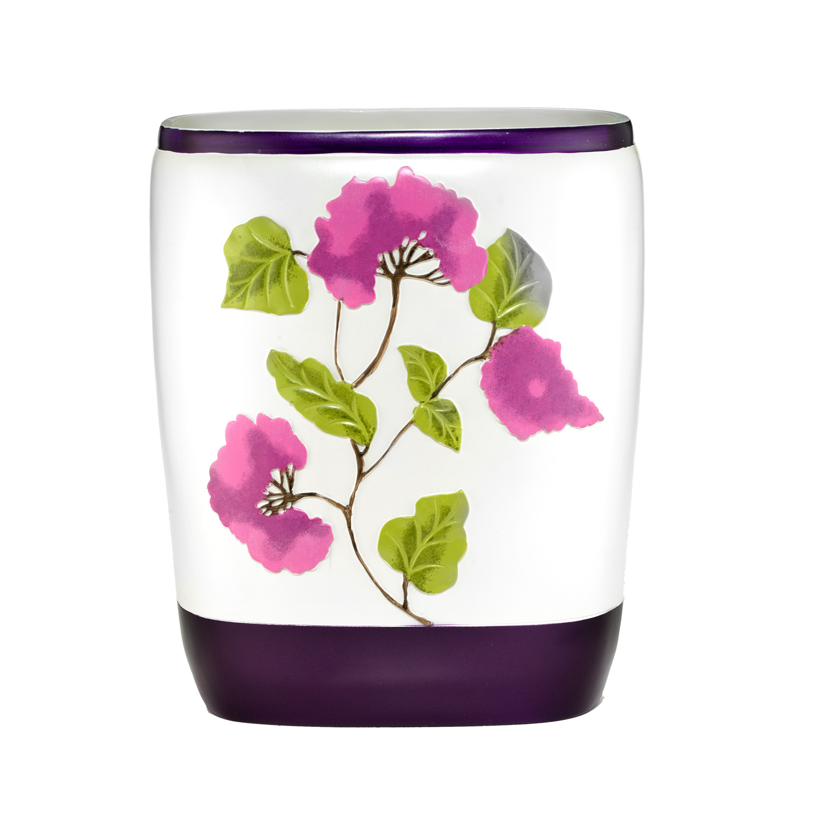 Jasmin Waste Basket, PLUM