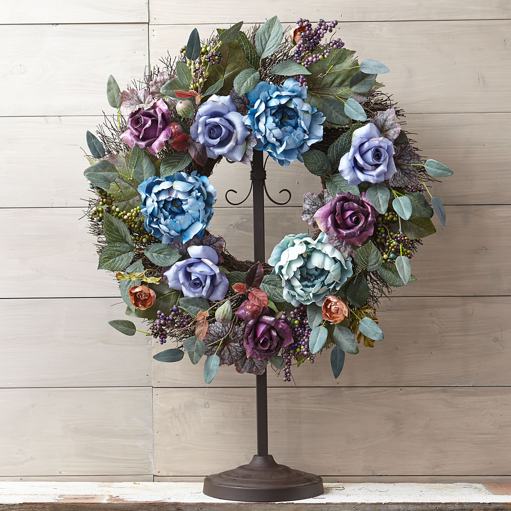 Midnight Mist Wreath, PURPLE BLUE