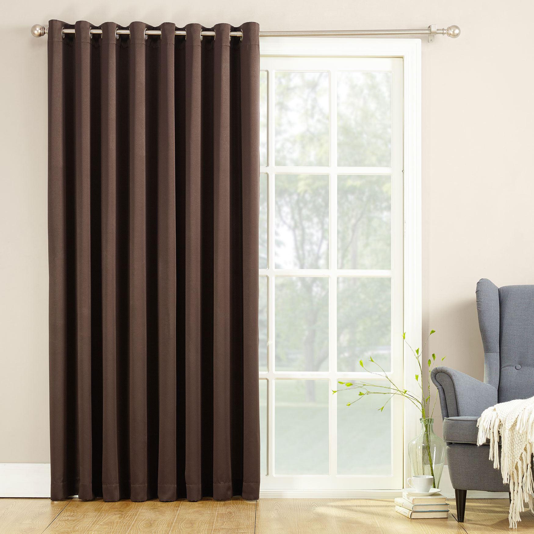 Madison Room Darkening Sliding Glass Door Panel Plus Size Curtains