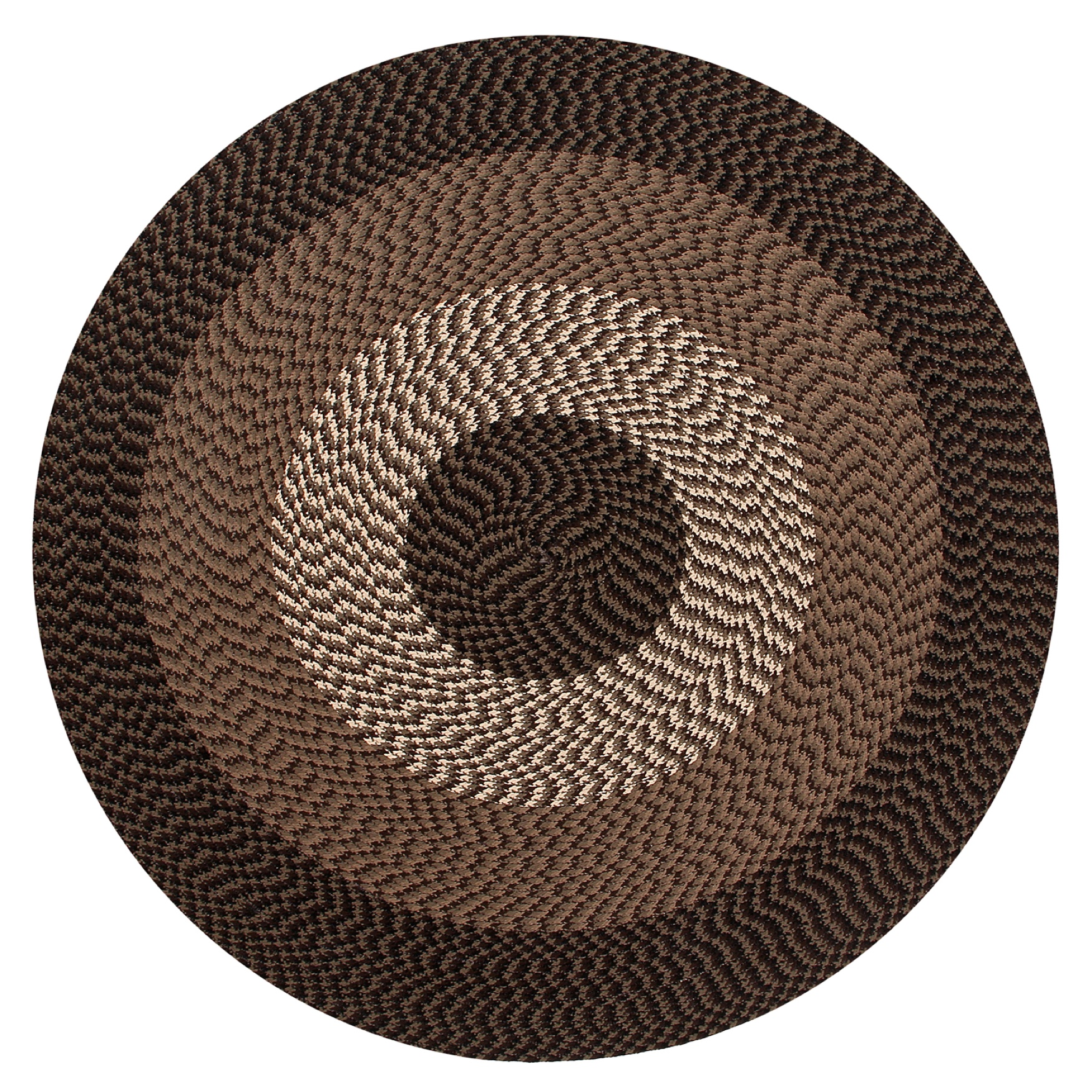 "Alpine Braid Collection Reversible Indoor Area Rug, 72"" Round by Better Trends,"
