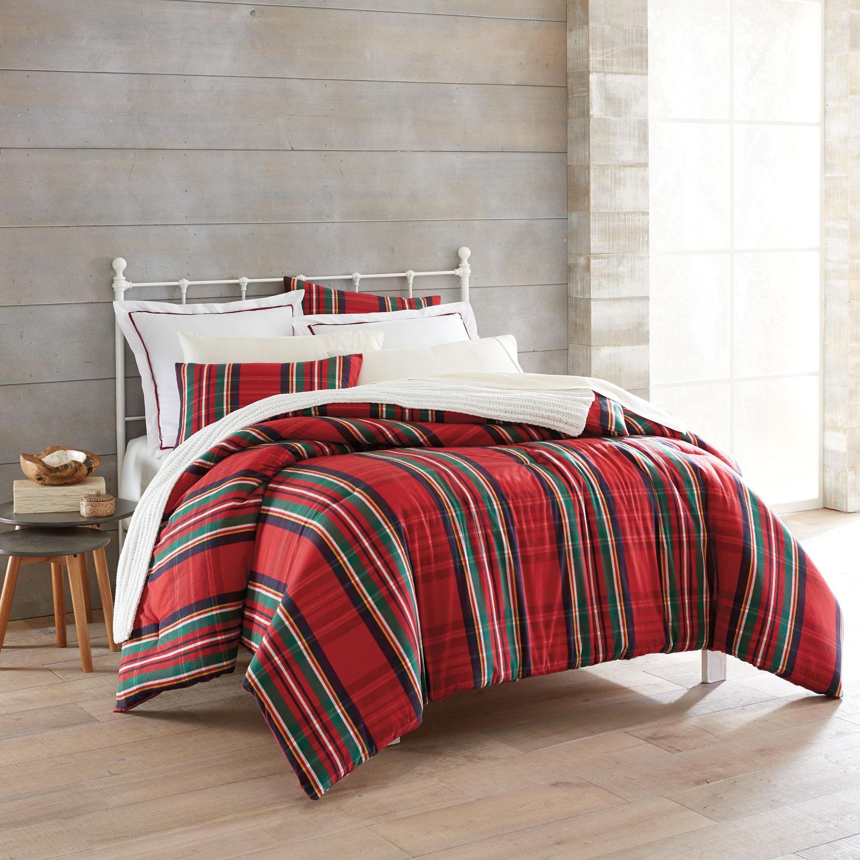 Nicholas Flannel Plaid Comforter Plus Size Comforters