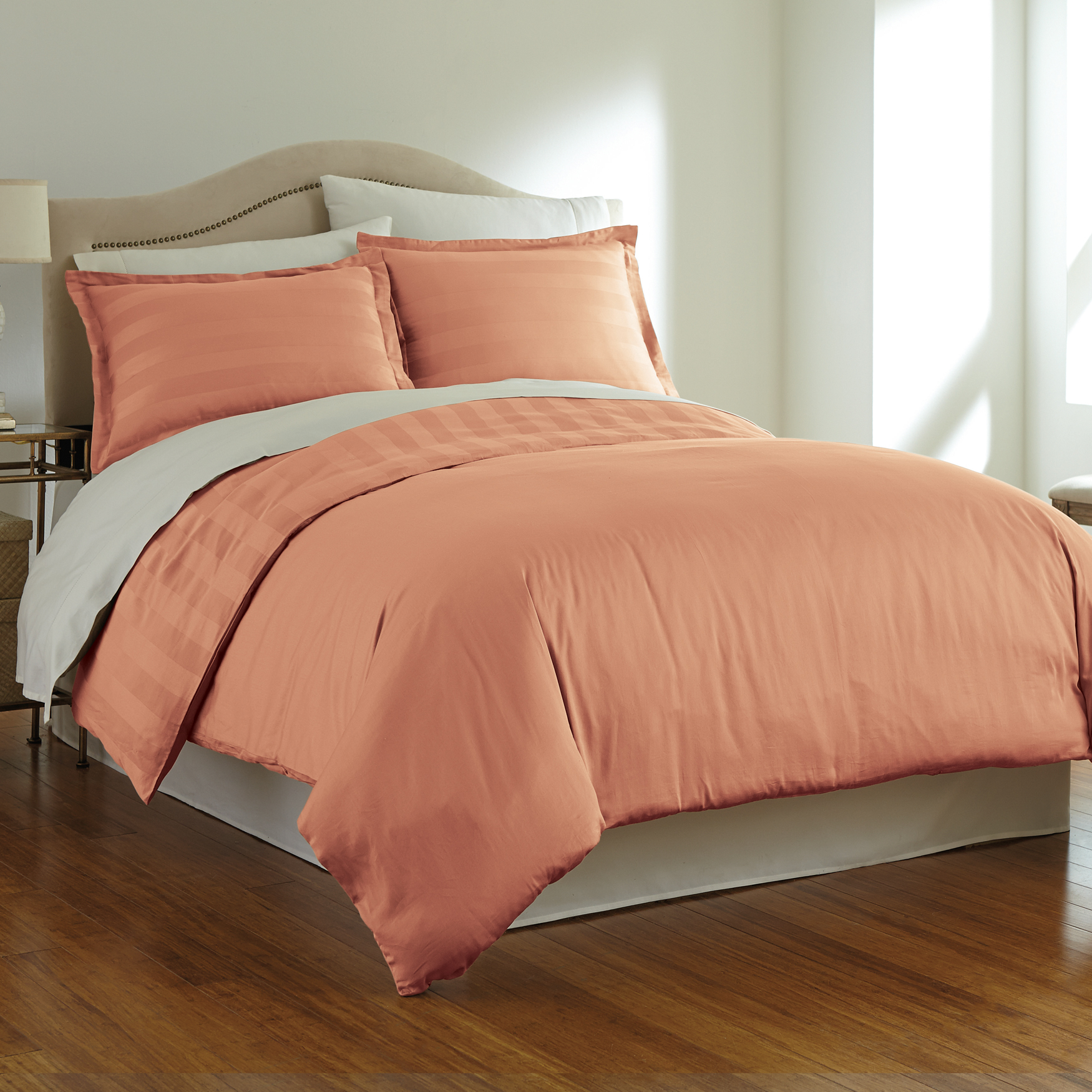 325-TC. Pima Cotton Reversible Duvet Set,
