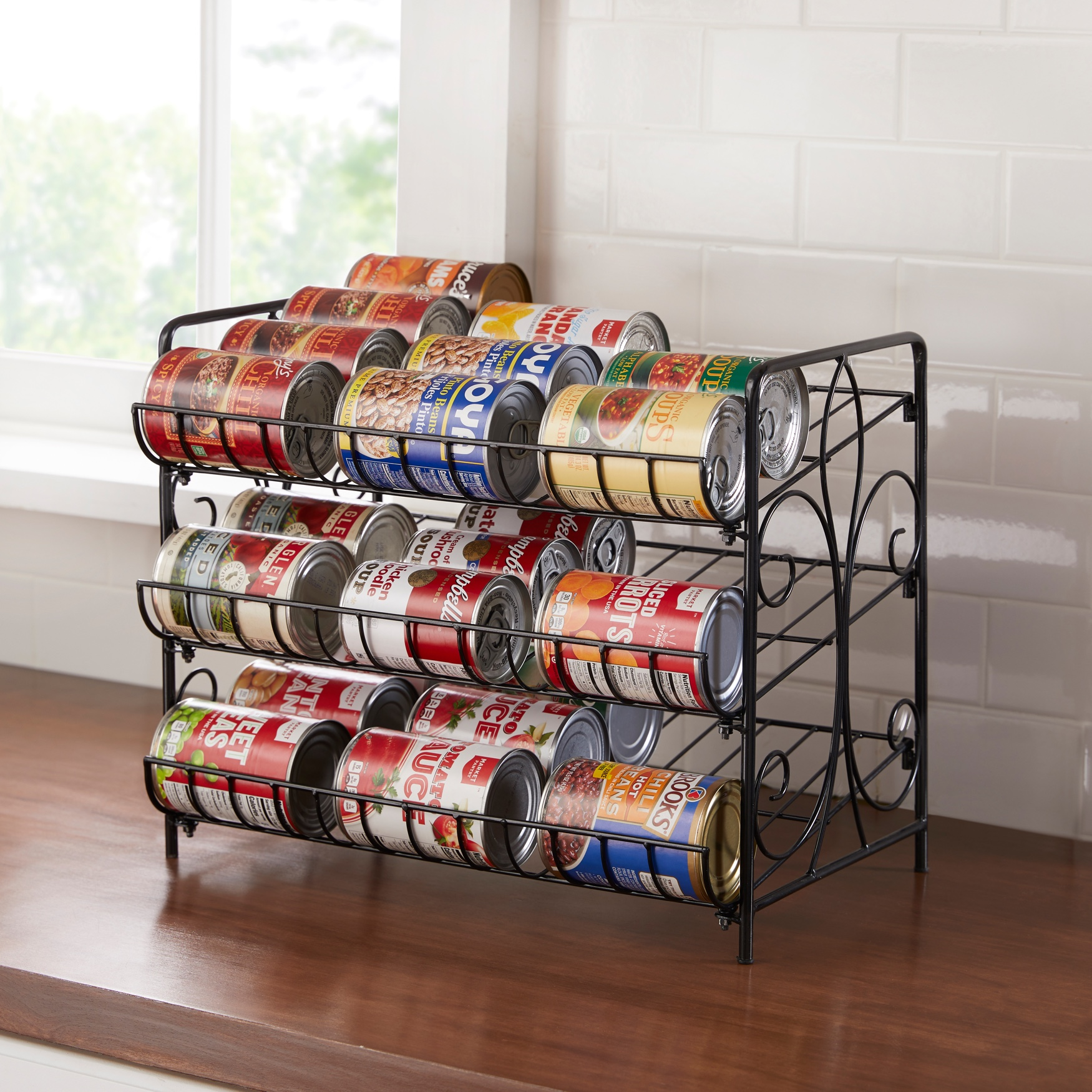3-Tier Can Organizer, BLACK
