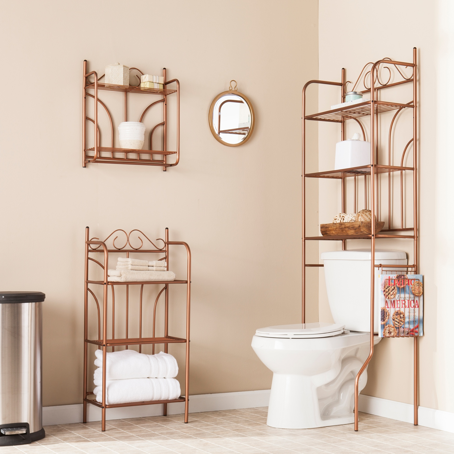 Copper Scroll 3-Pc. Bath Set, COPPER