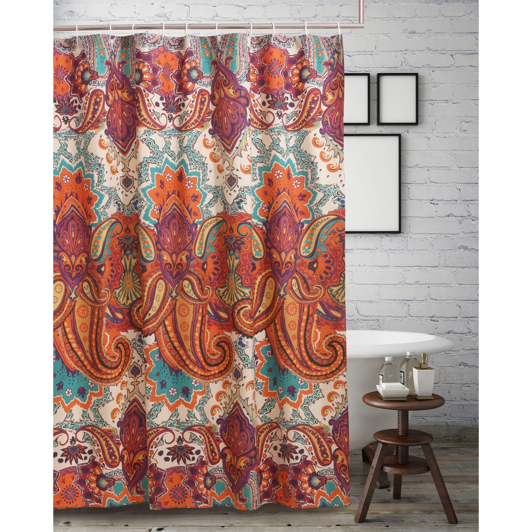 Nirvana Spice Shower Curtain by Greenland Home Fashions, SPICE