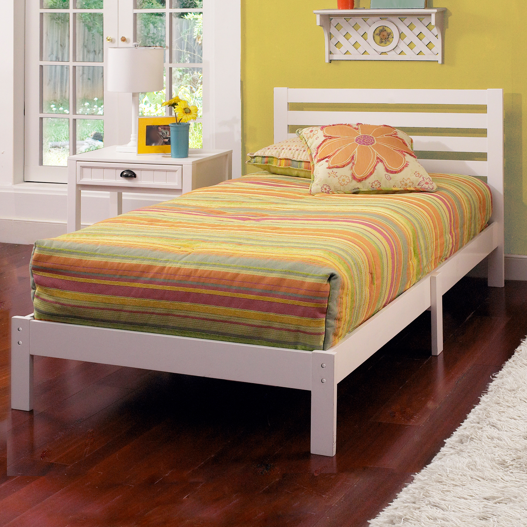 Hillsdale Aiden Twin Bed Set, WHITE