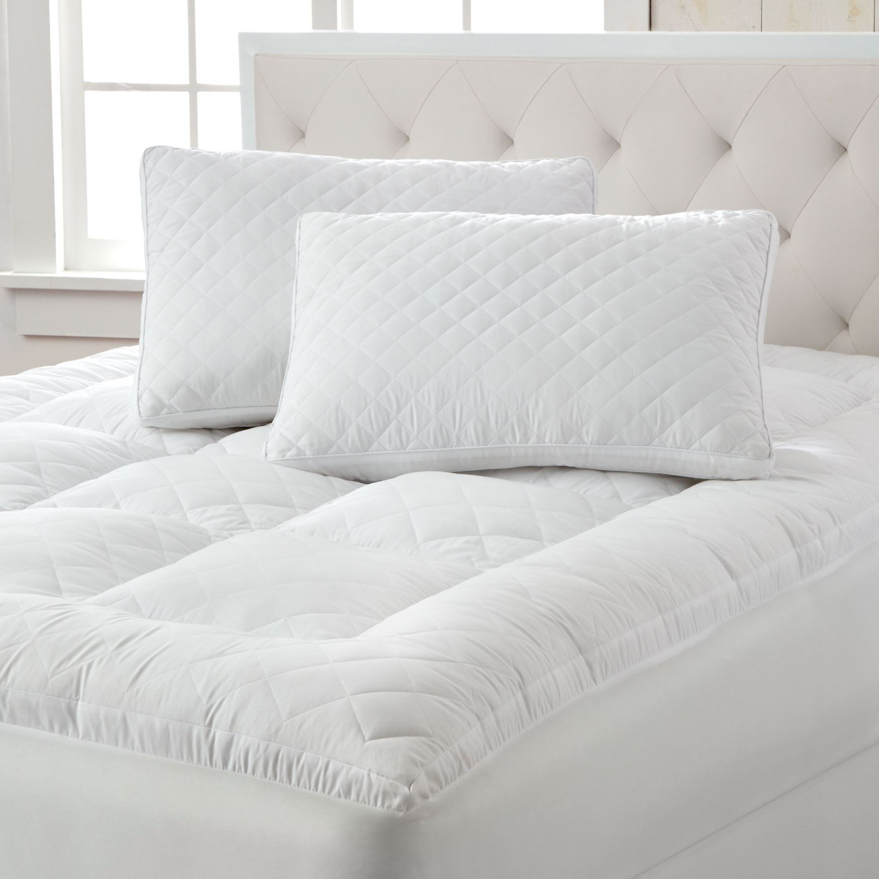 Small Diamond Quilted Mattress Topper| Mattress Pads ...