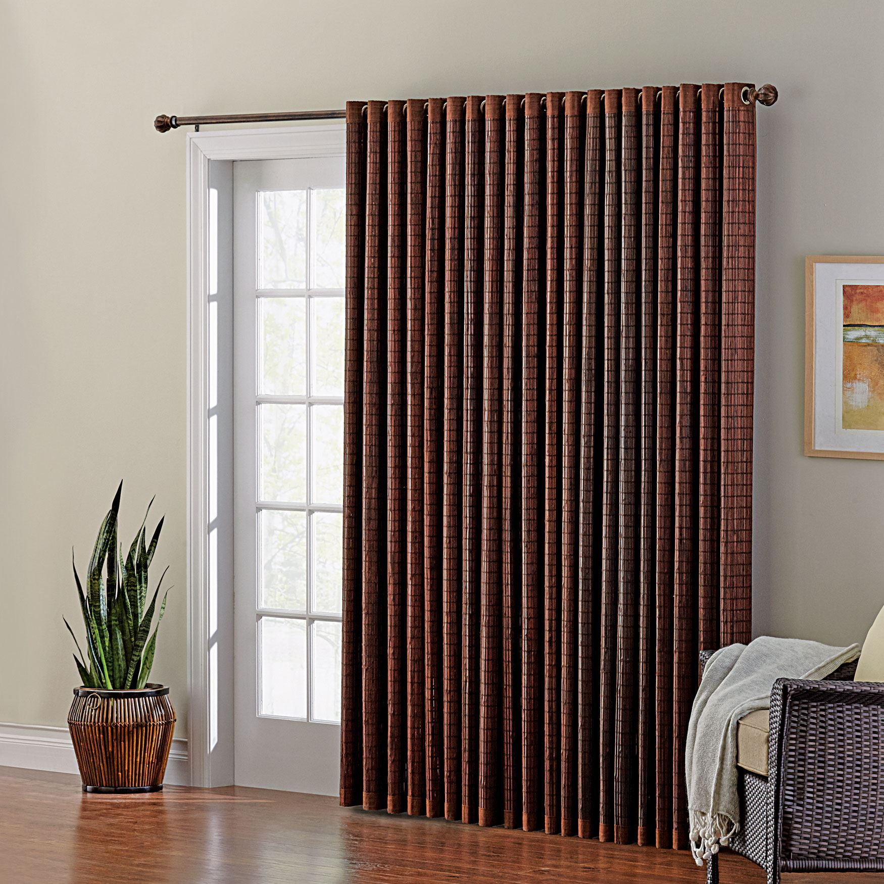 bamboo window panels bamboo shades bamboo grommet panel panel plus size blinds shades brylane home